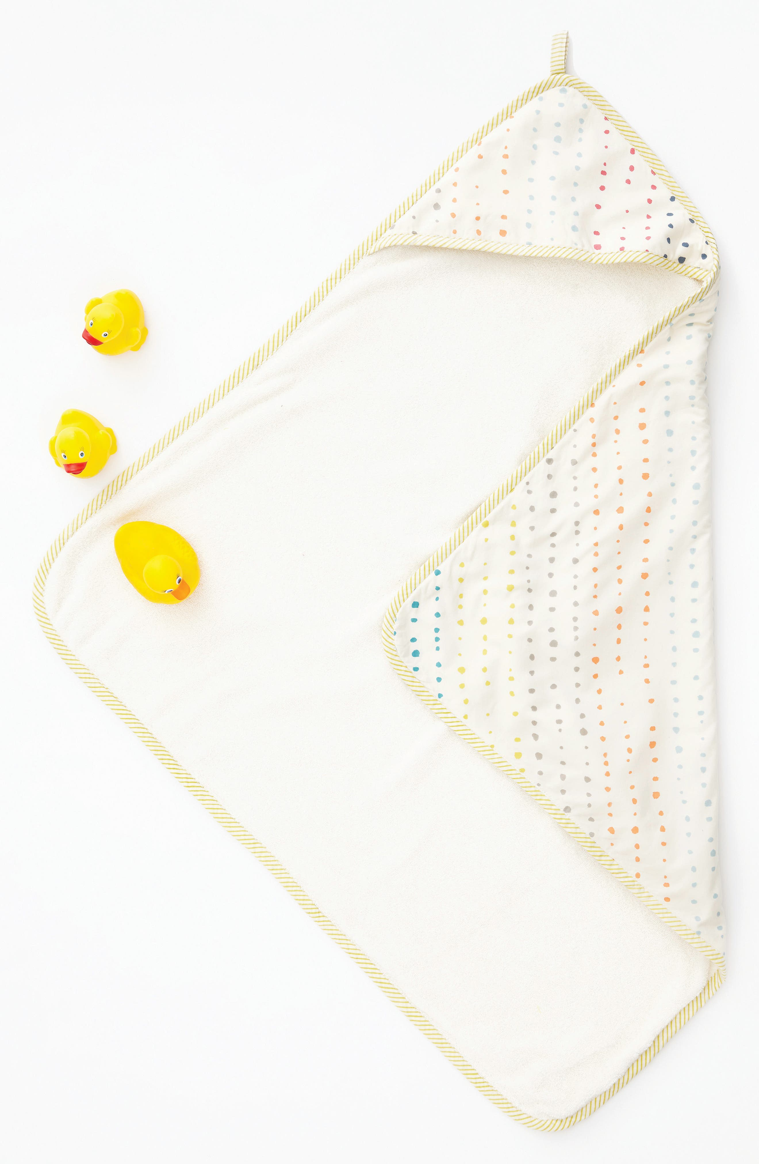 Print Hooded Towel,                             Alternate thumbnail 2, color,                             Painted Dots