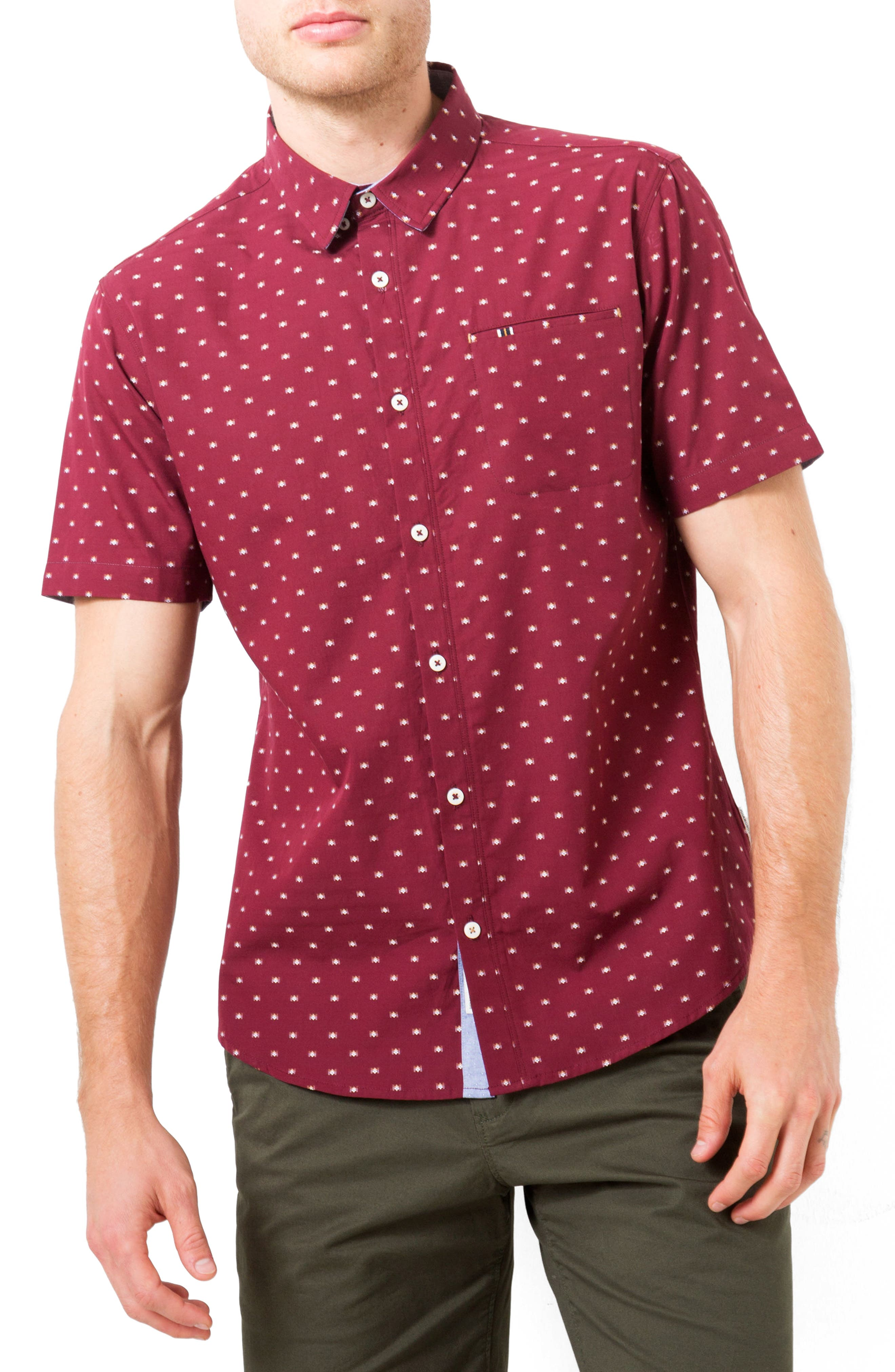Alternate Image 1 Selected - 7 Diamonds Star Quality Dobby Woven Shirt