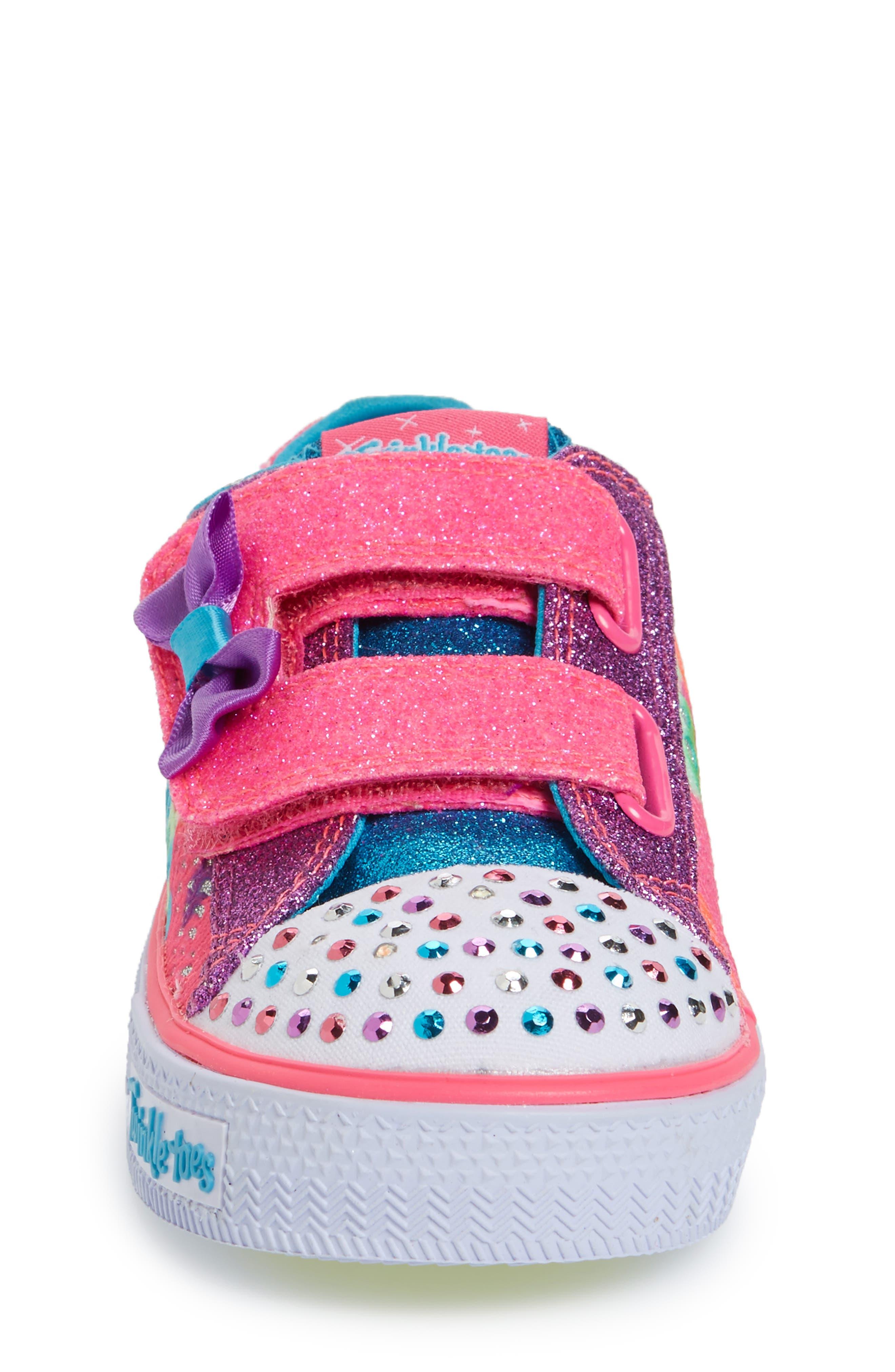 Alternate Image 4  - SKECHERS Twinkle Toes Shuffles Light-Up Sneaker (Walker & Toddler)