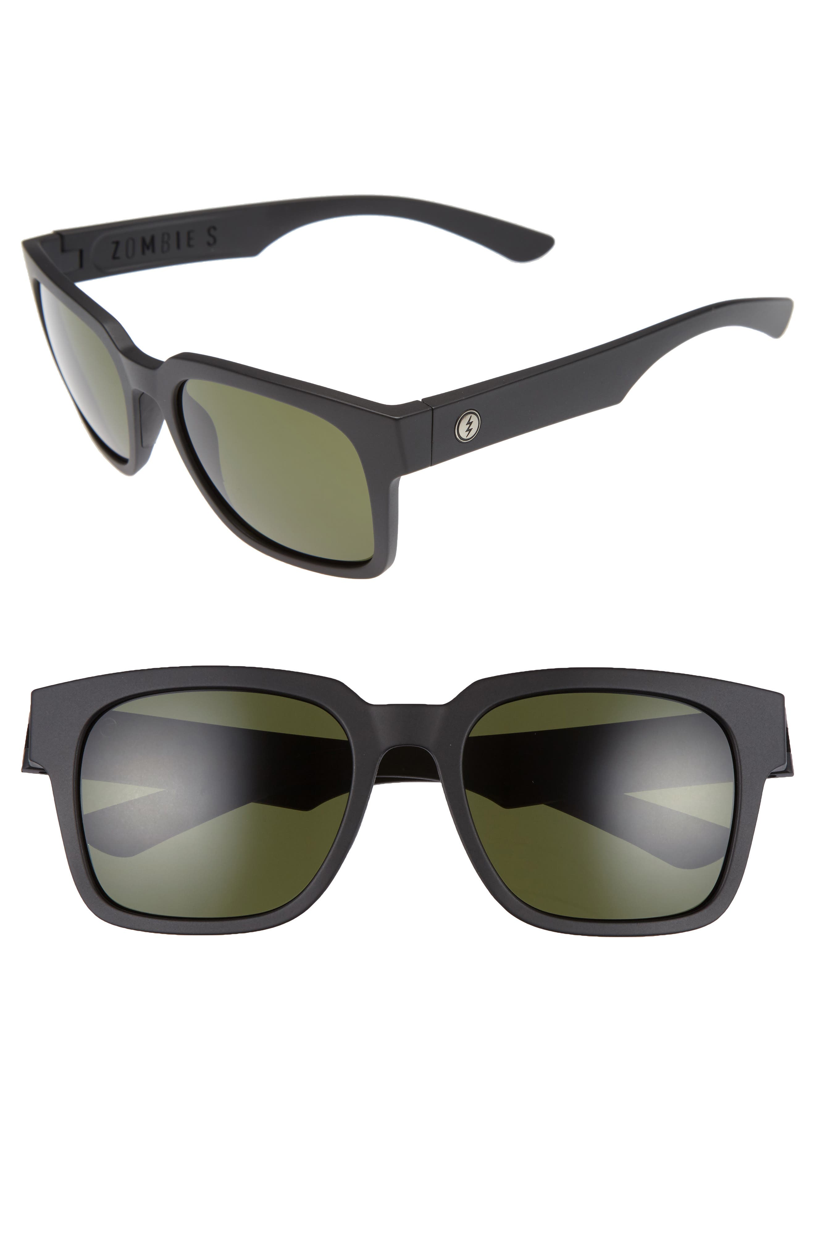 Zombie S 52mm Sunglasses,                         Main,                         color, Matte Black/ Grey