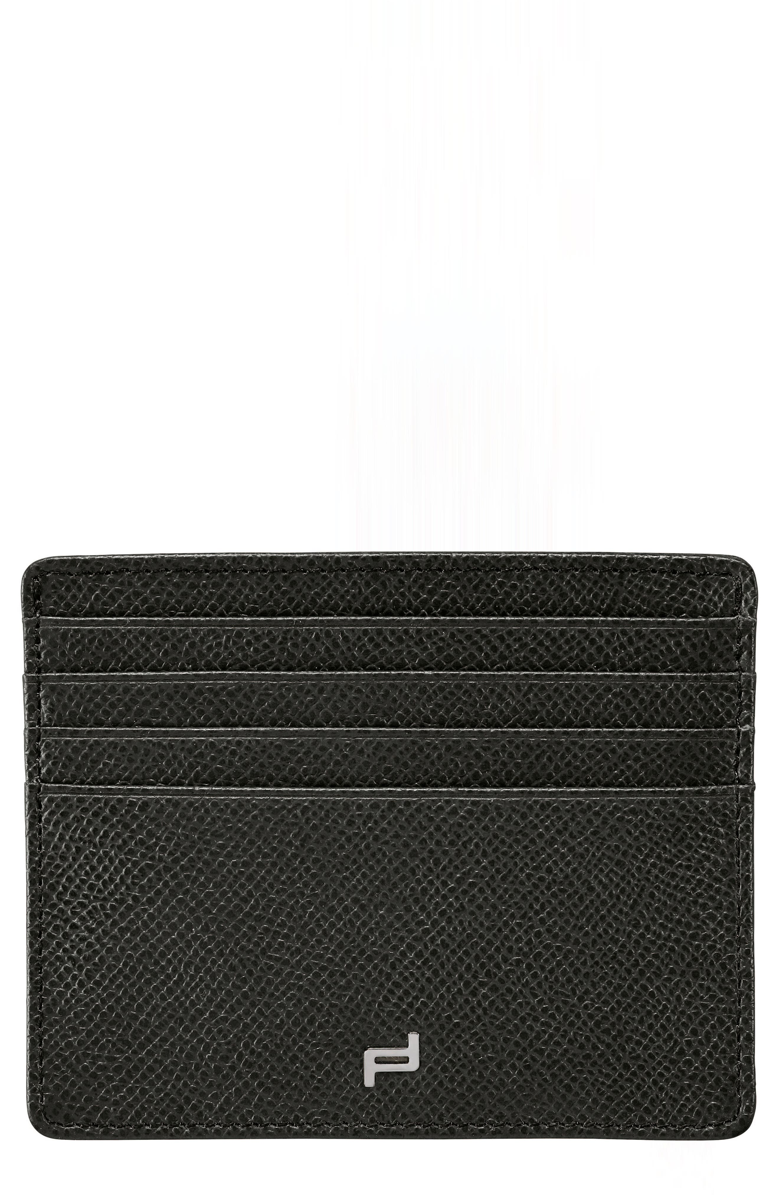 French Classic 3.0 Leather Card Case,                             Main thumbnail 1, color,                             Black