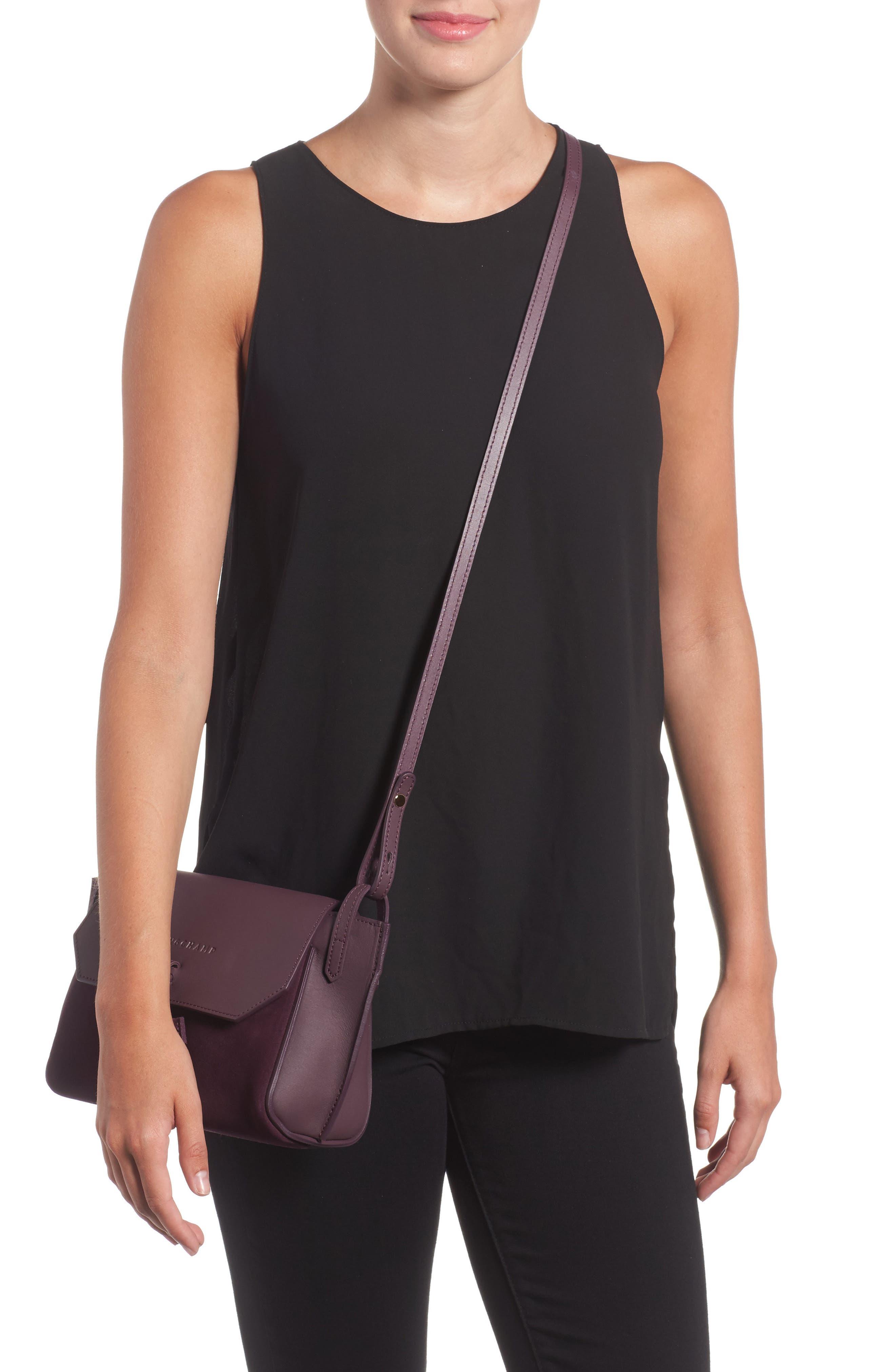 Alternate Image 2  - Longchamp Small Penelope Leather Crossbody Bag