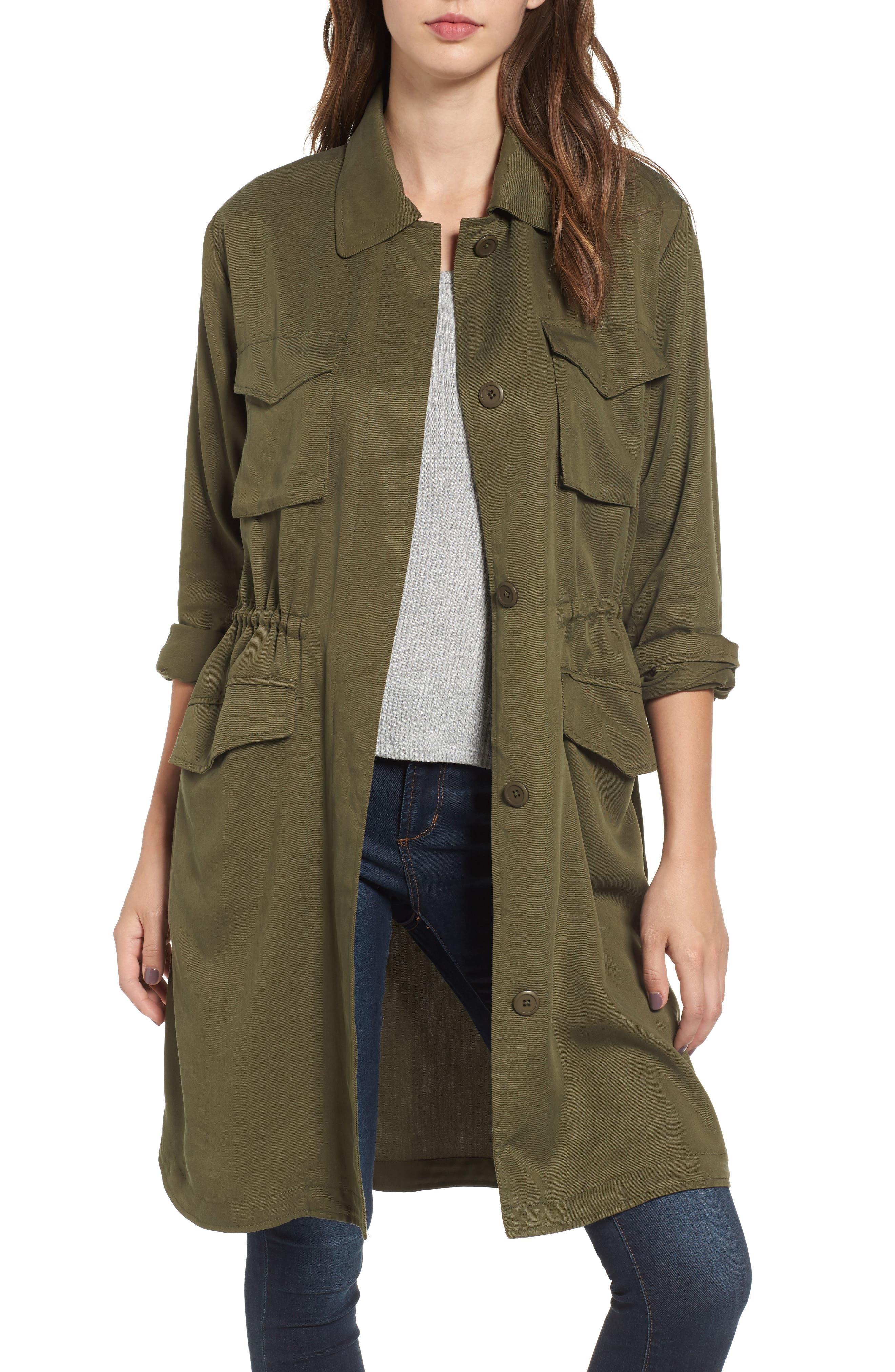 BB Dakota Averie Drawstring Waist Army Coat