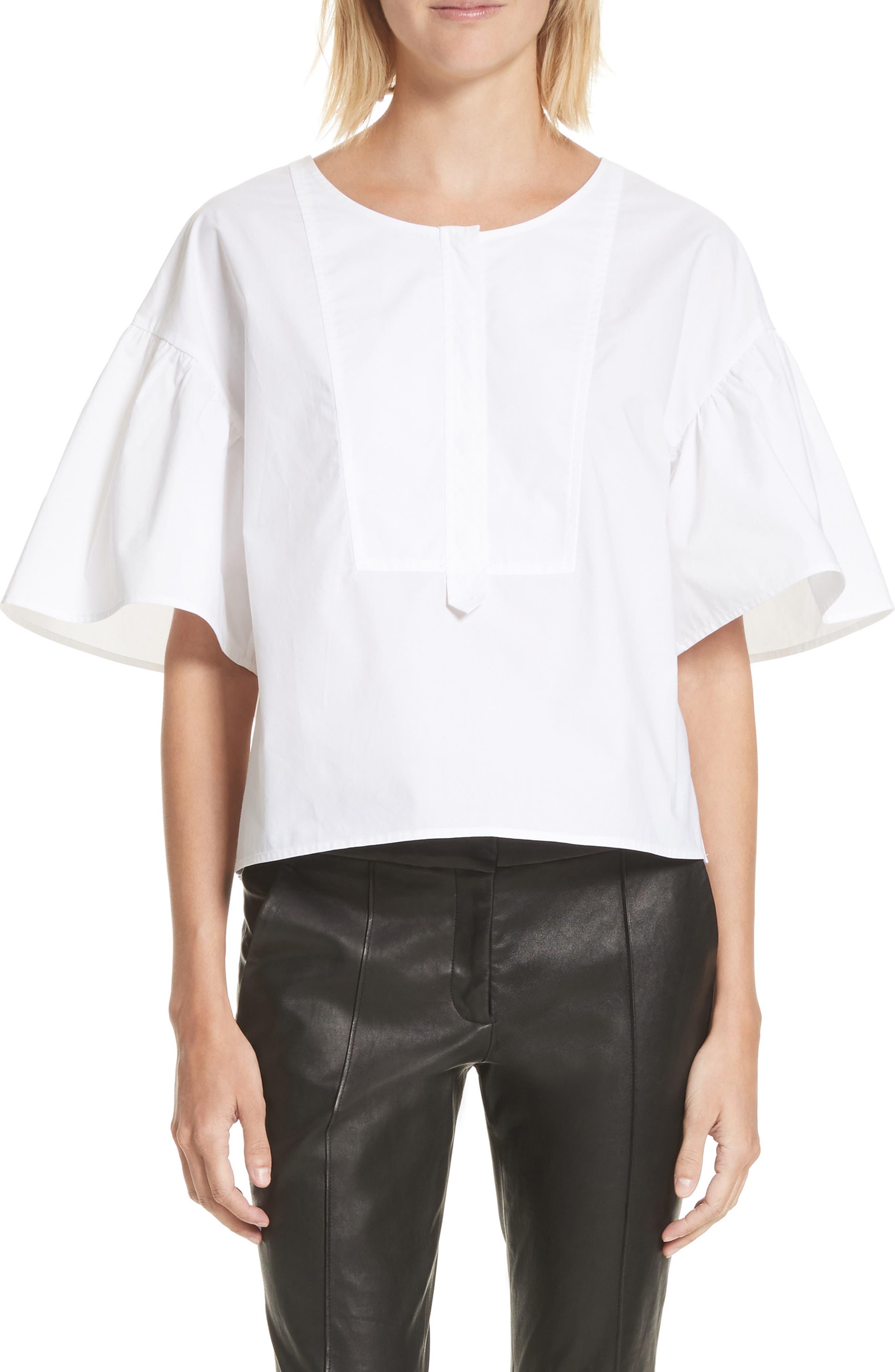 Kyrie Cotton Top,                         Main,                         color, White