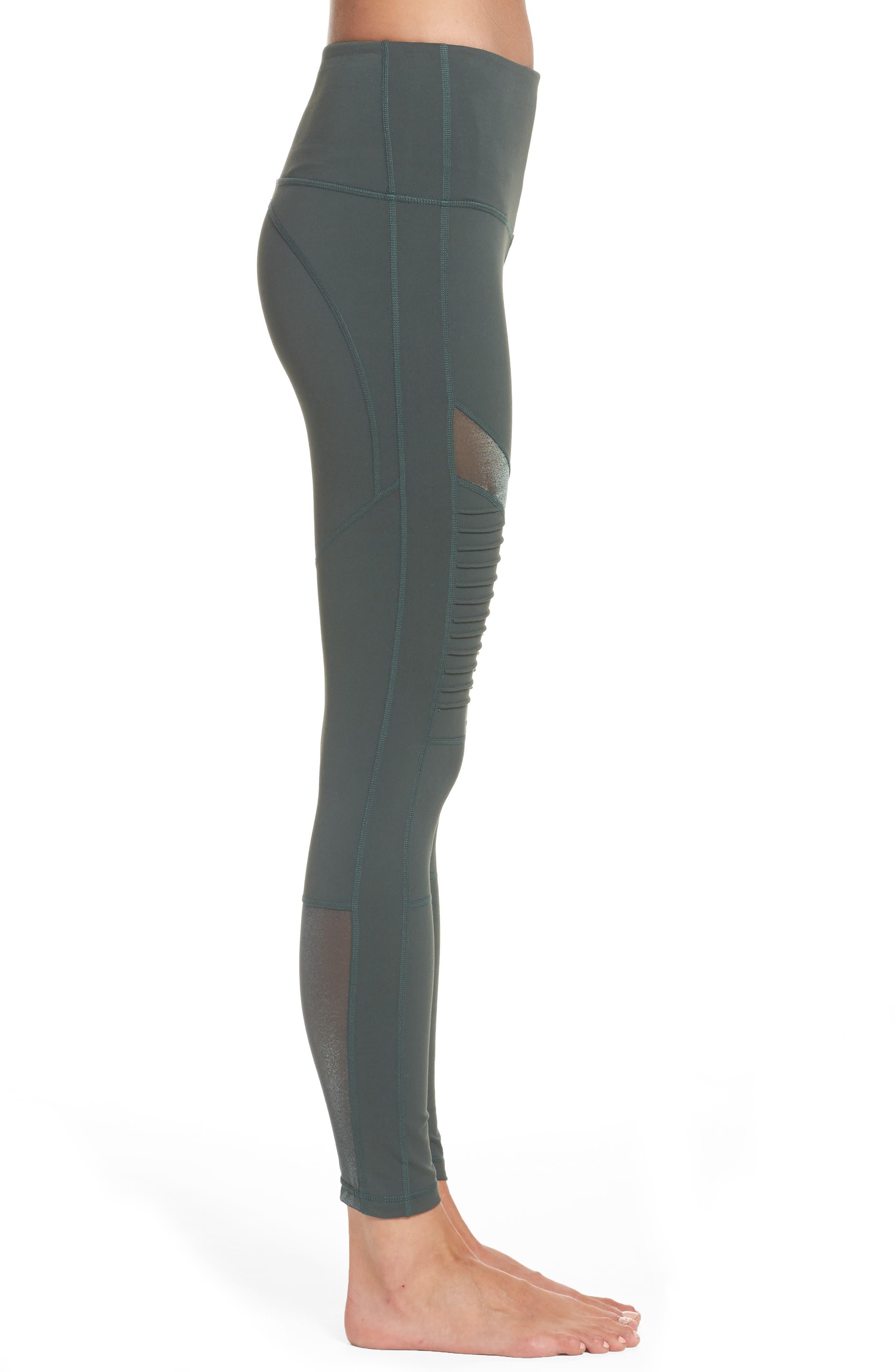 Alternate Image 3  - Zella Autumn High Waist Moto Ankle Leggings