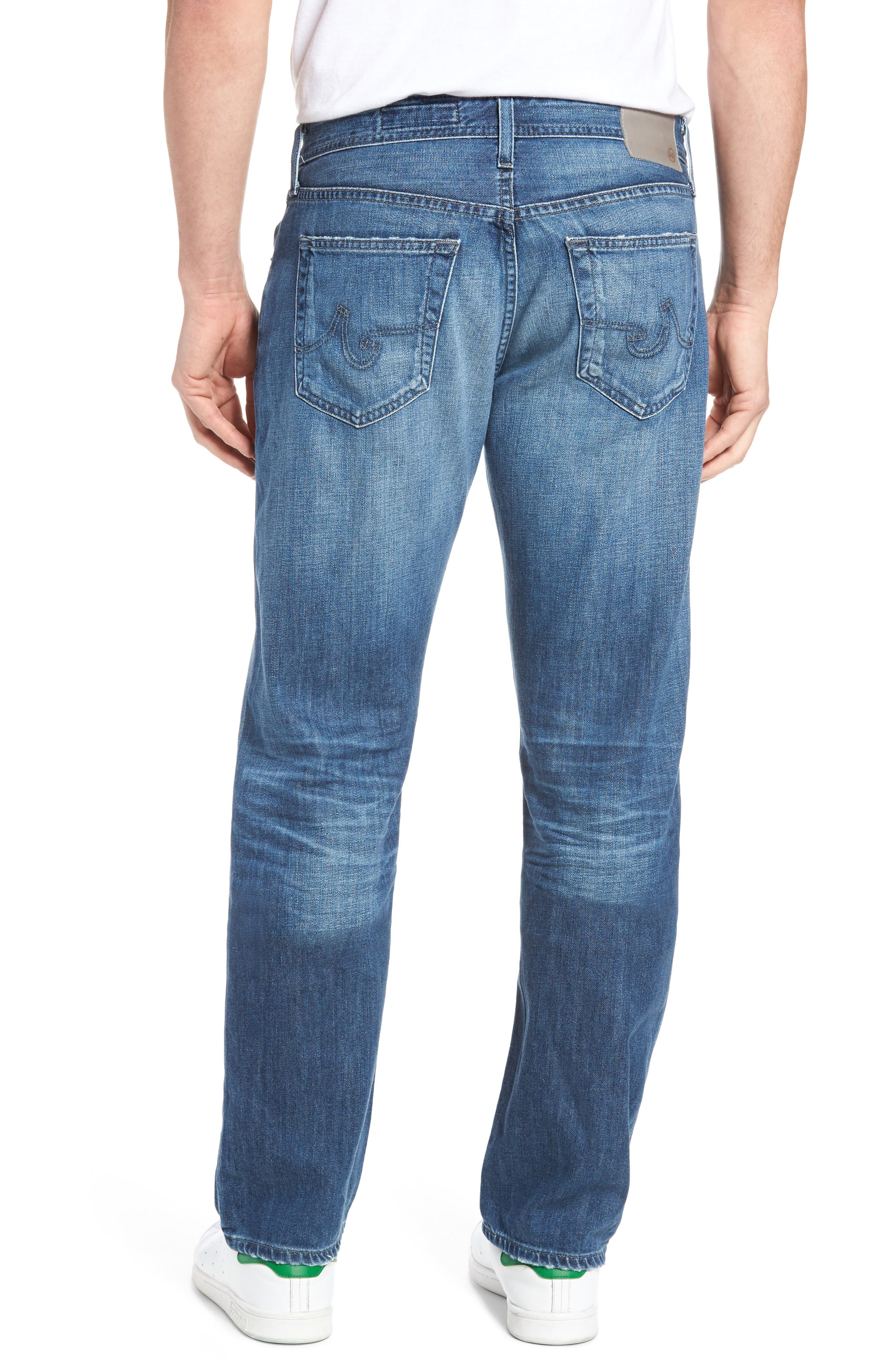 Alternate Image 2  - AG Graduate Slim Straight Fit Jeans (15 Years Forgery)