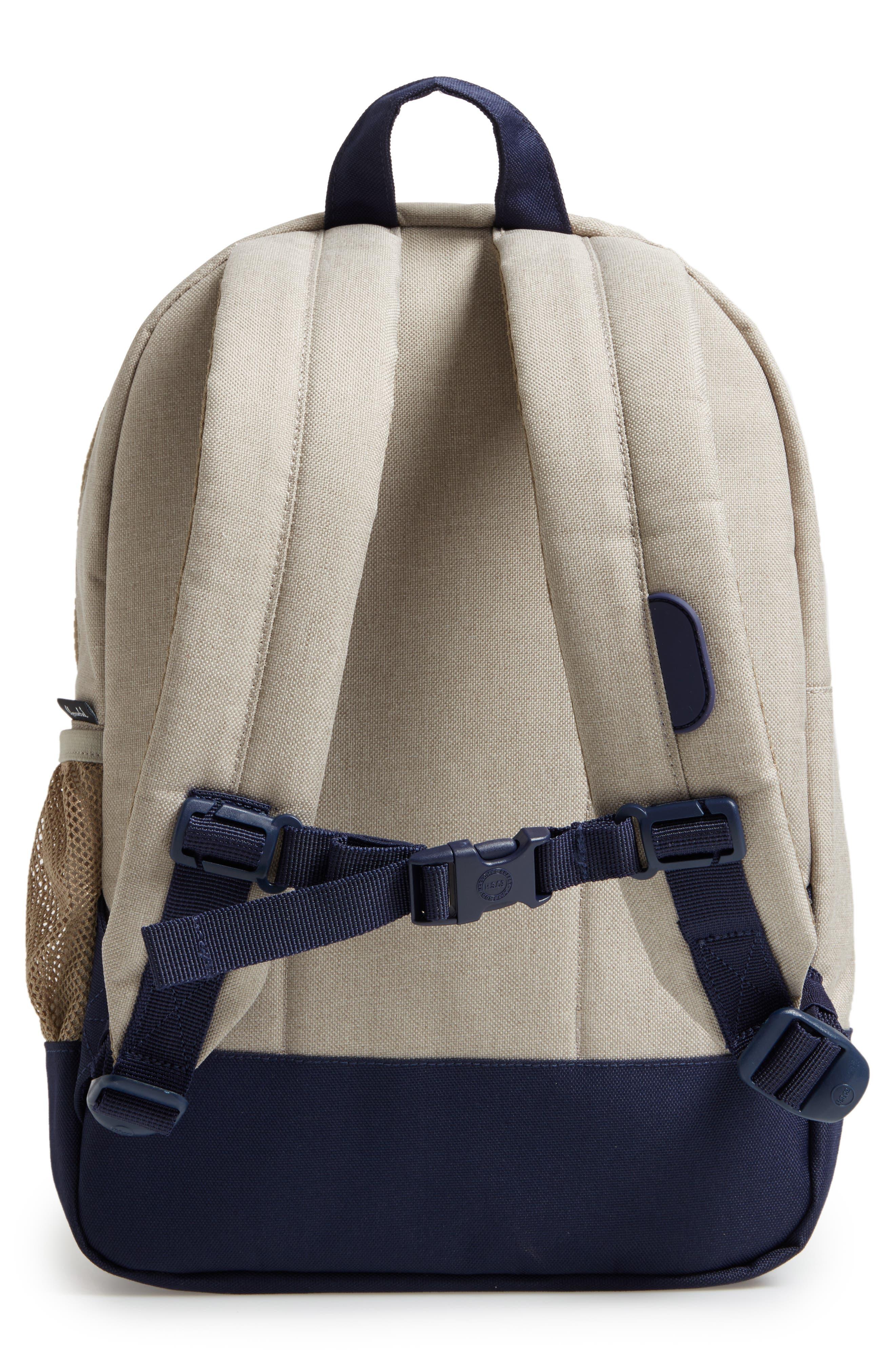 Heritage Backpack,                             Alternate thumbnail 2, color,                             Khaki Chambray Crosshatch