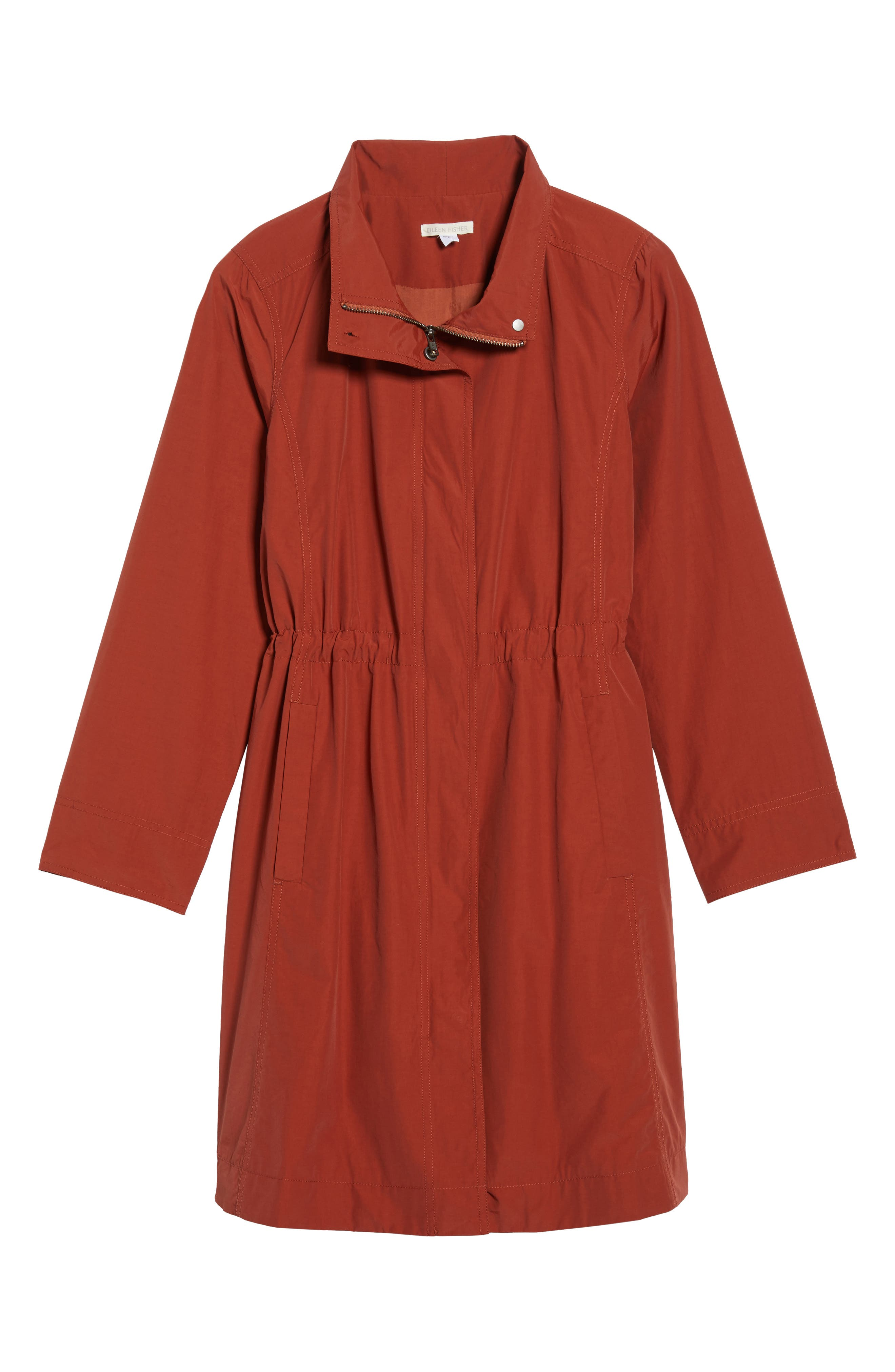 Alternate Image 6  - Eileen Fisher Long Organic Cotton Blend Jacket