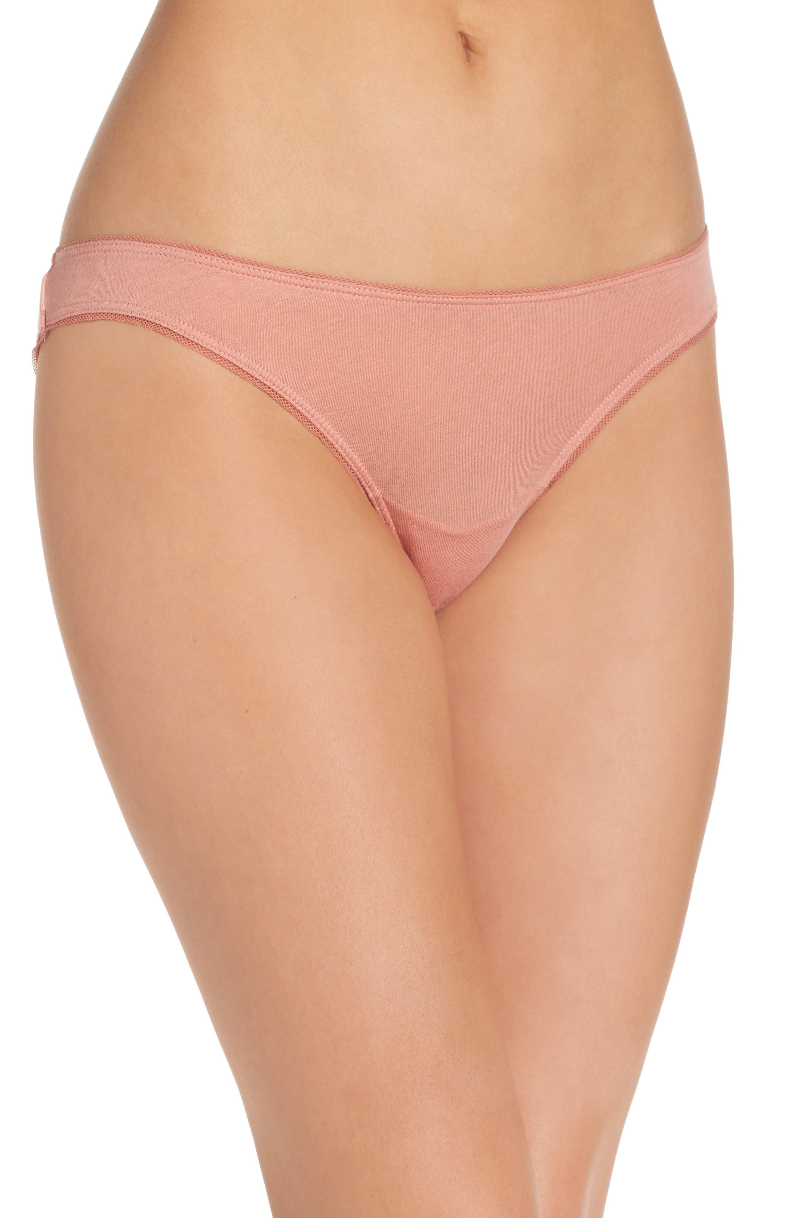Organic Cotton Bikini,                         Main,                         color, Vintage Pink