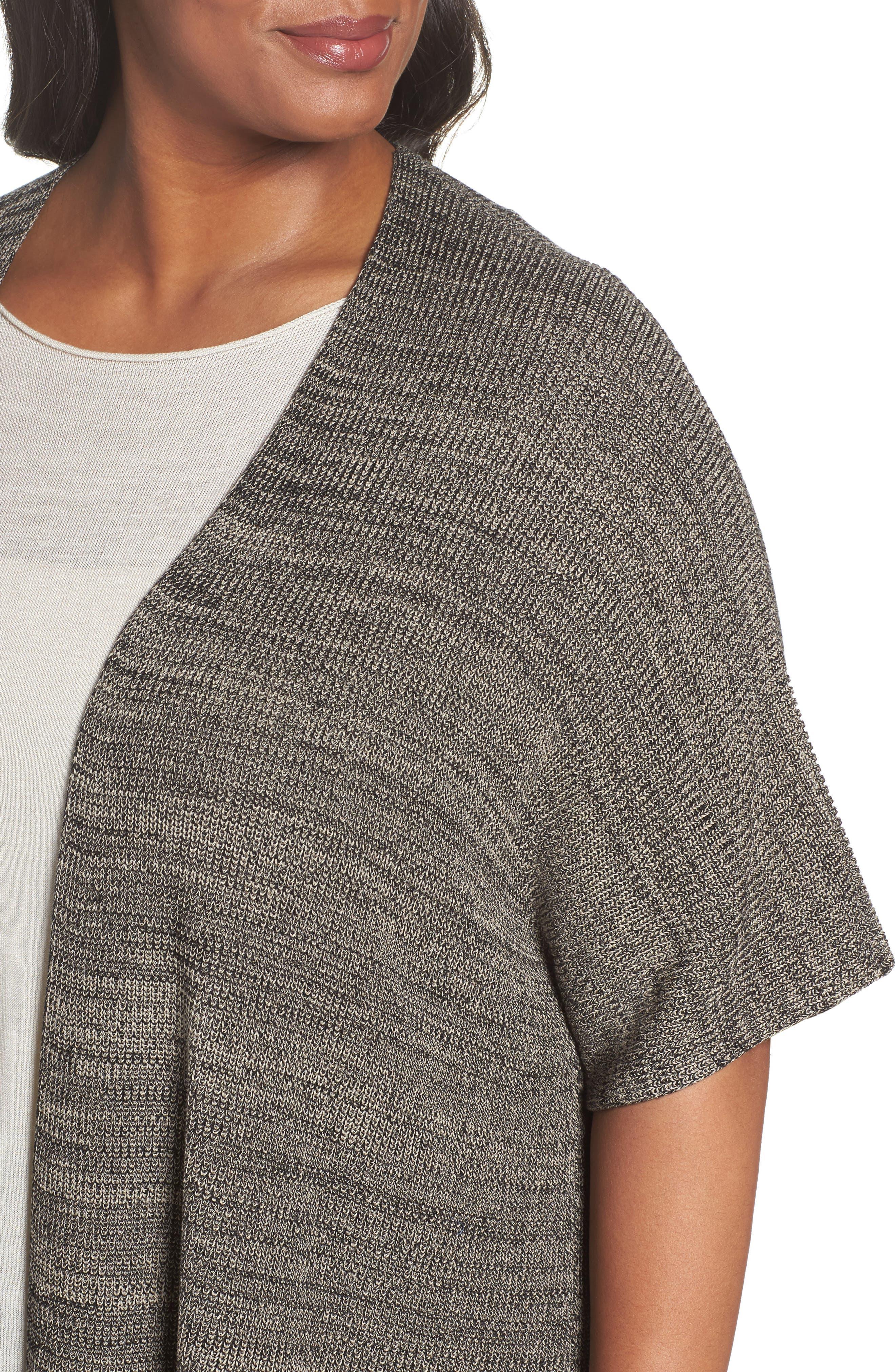 Alternate Image 4  - Eileen Fisher Tencel® Knit Kimono Cardigan (Plus Size)