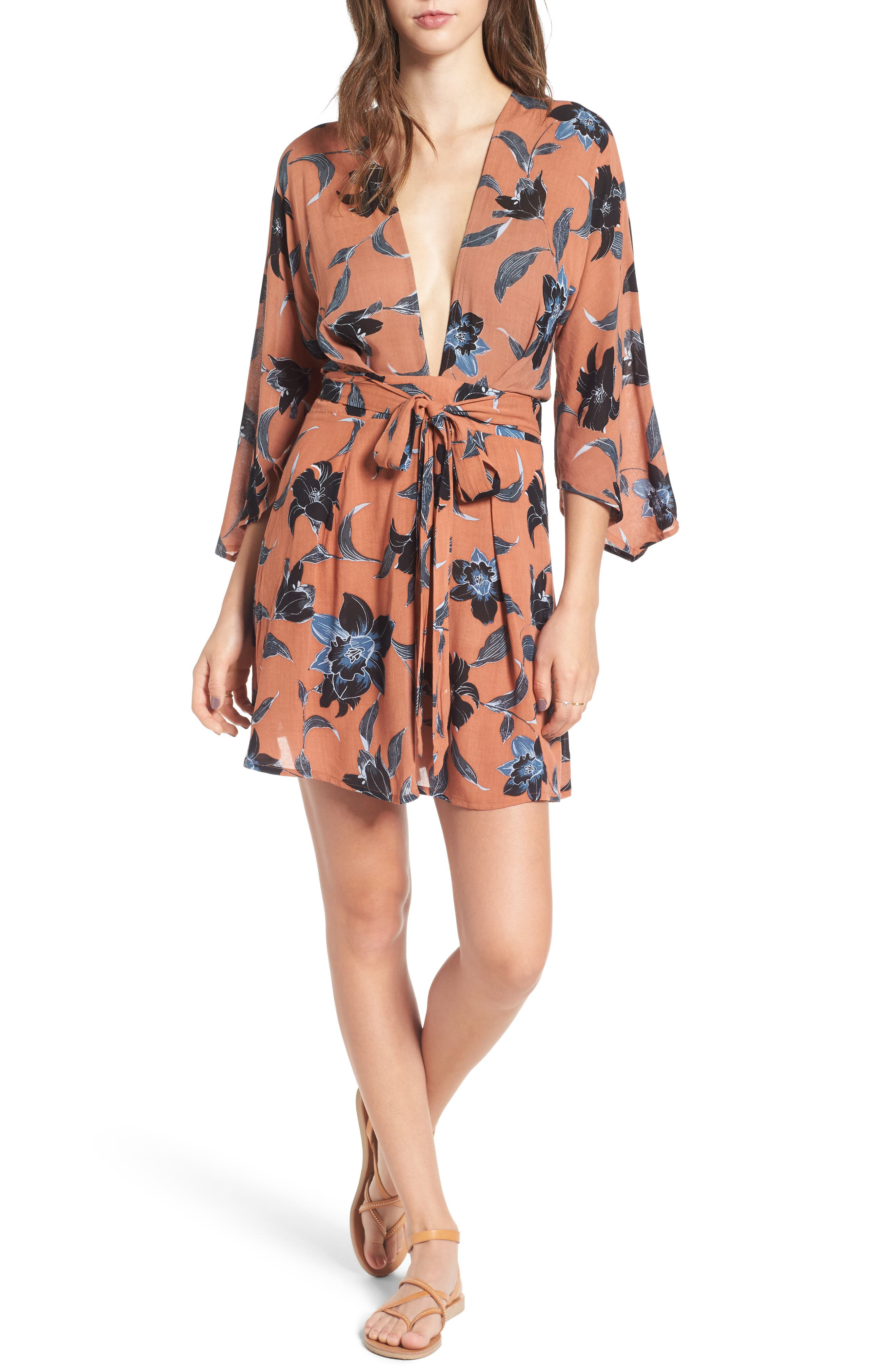 Nova Floral Print Dress,                         Main,                         color, Maldives Print