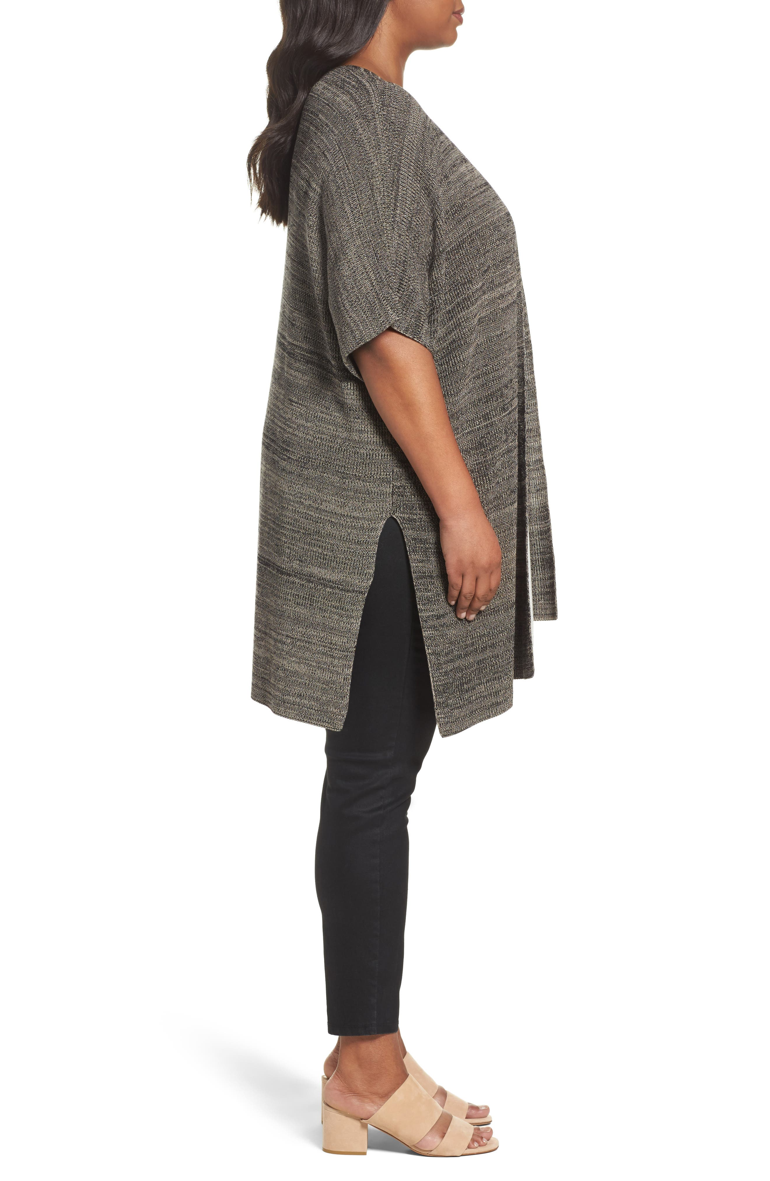 Alternate Image 3  - Eileen Fisher Tencel® Knit Kimono Cardigan (Plus Size)