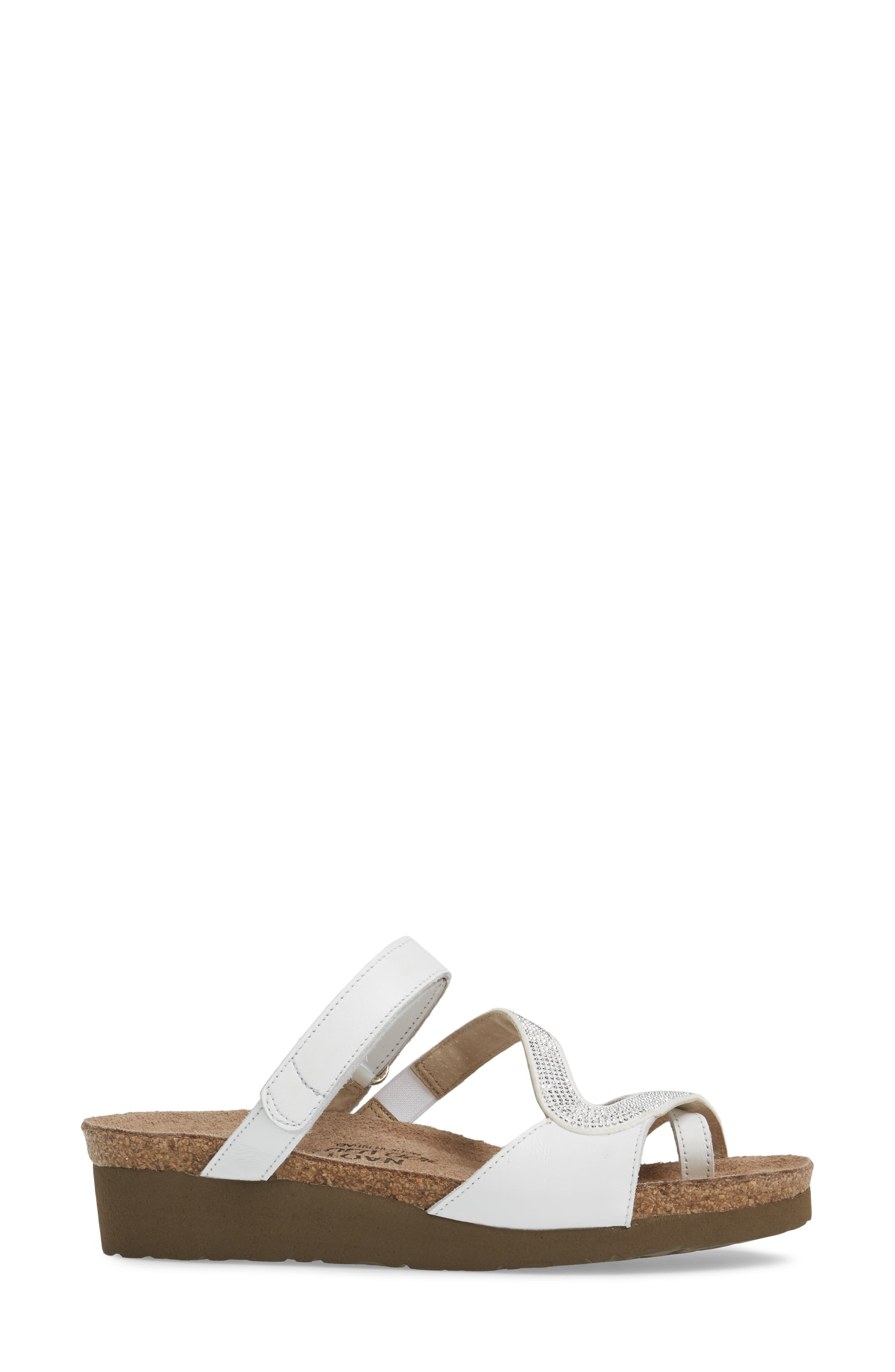 Giovanna Sandal,                             Alternate thumbnail 3, color,                             White Leather