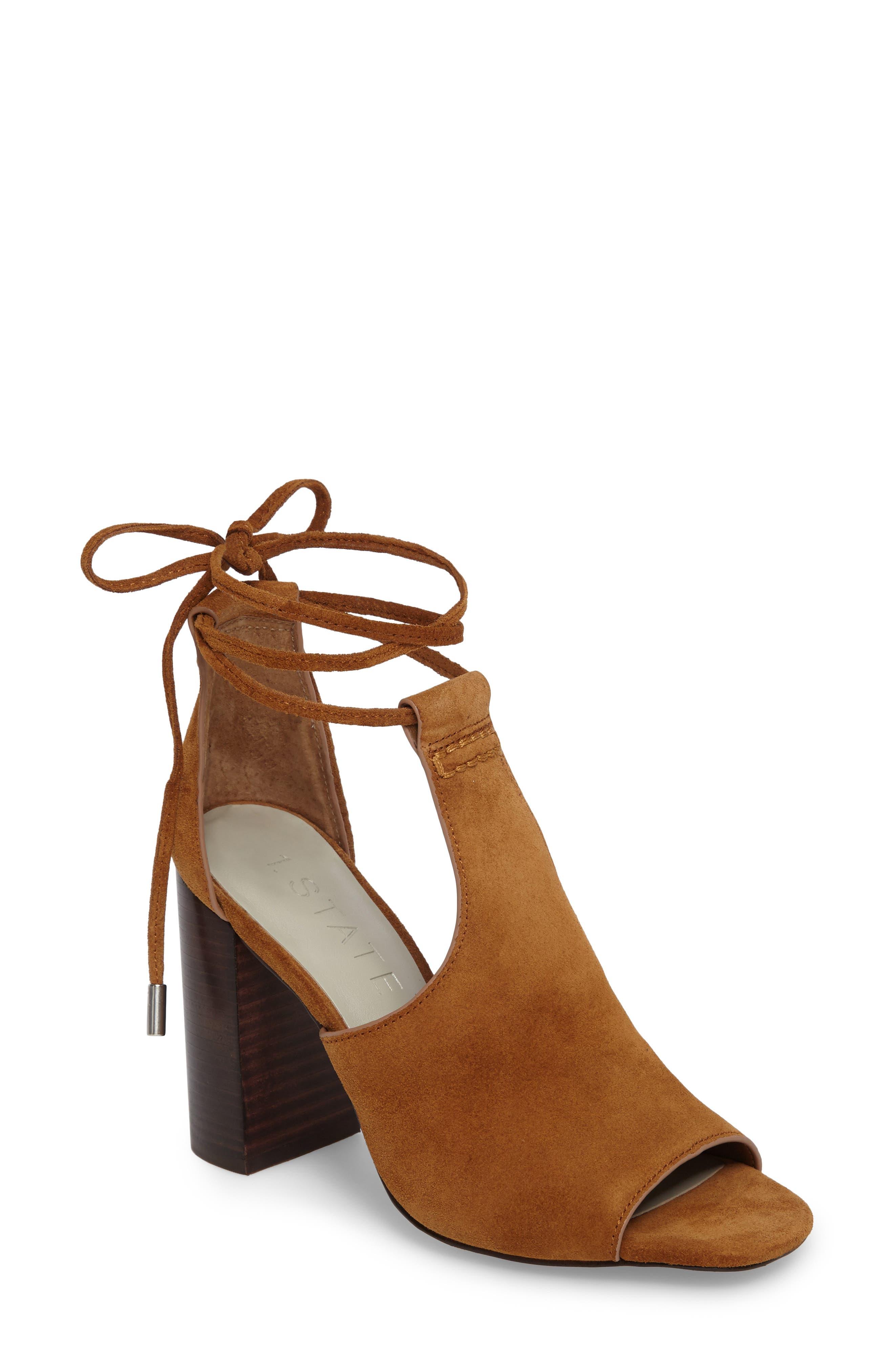 Alternate Image 1 Selected - 1.STATE Tilya Bootie Profile Sandal (Women)