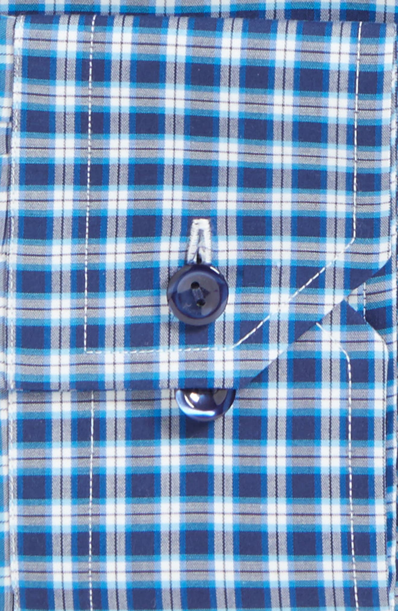 Alternate Image 4  - Eton Contemporary Fit Check Dress Shirt