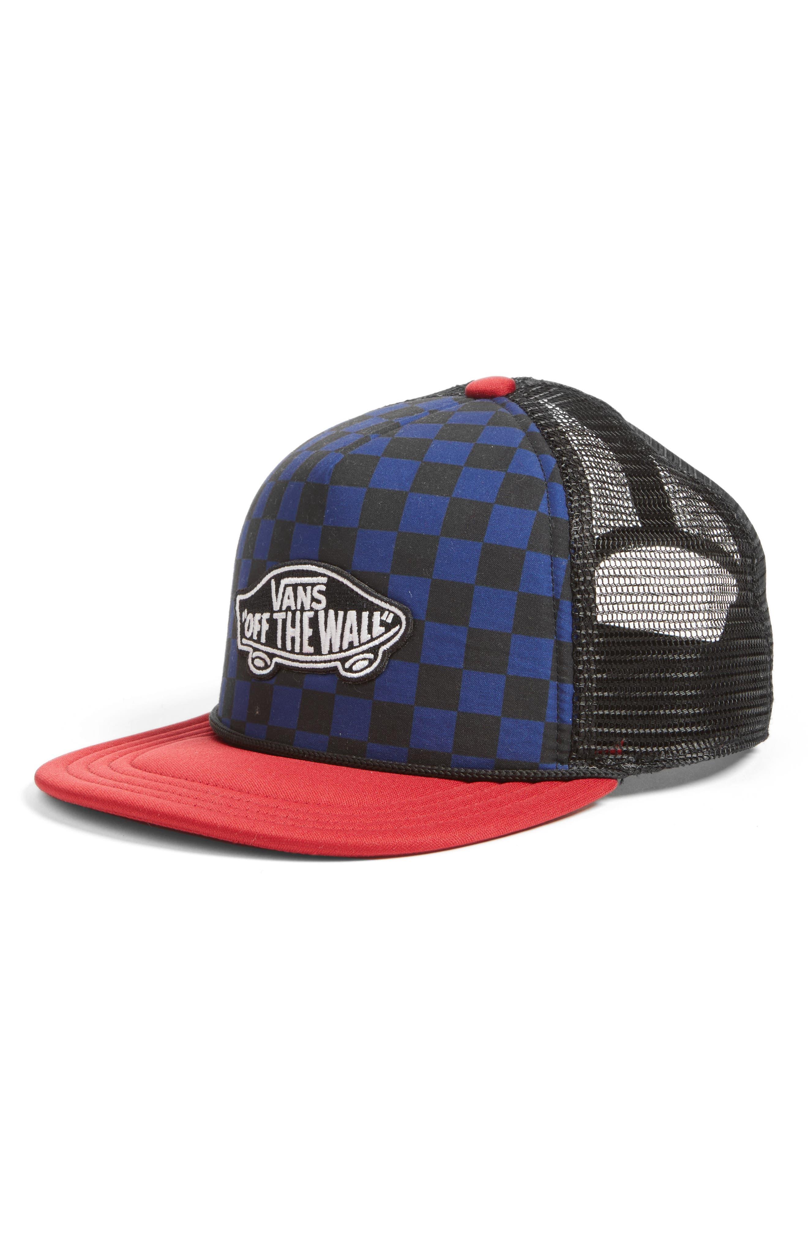 Classic Patch Trucker Hat,                         Main,                         color, Blue Depths
