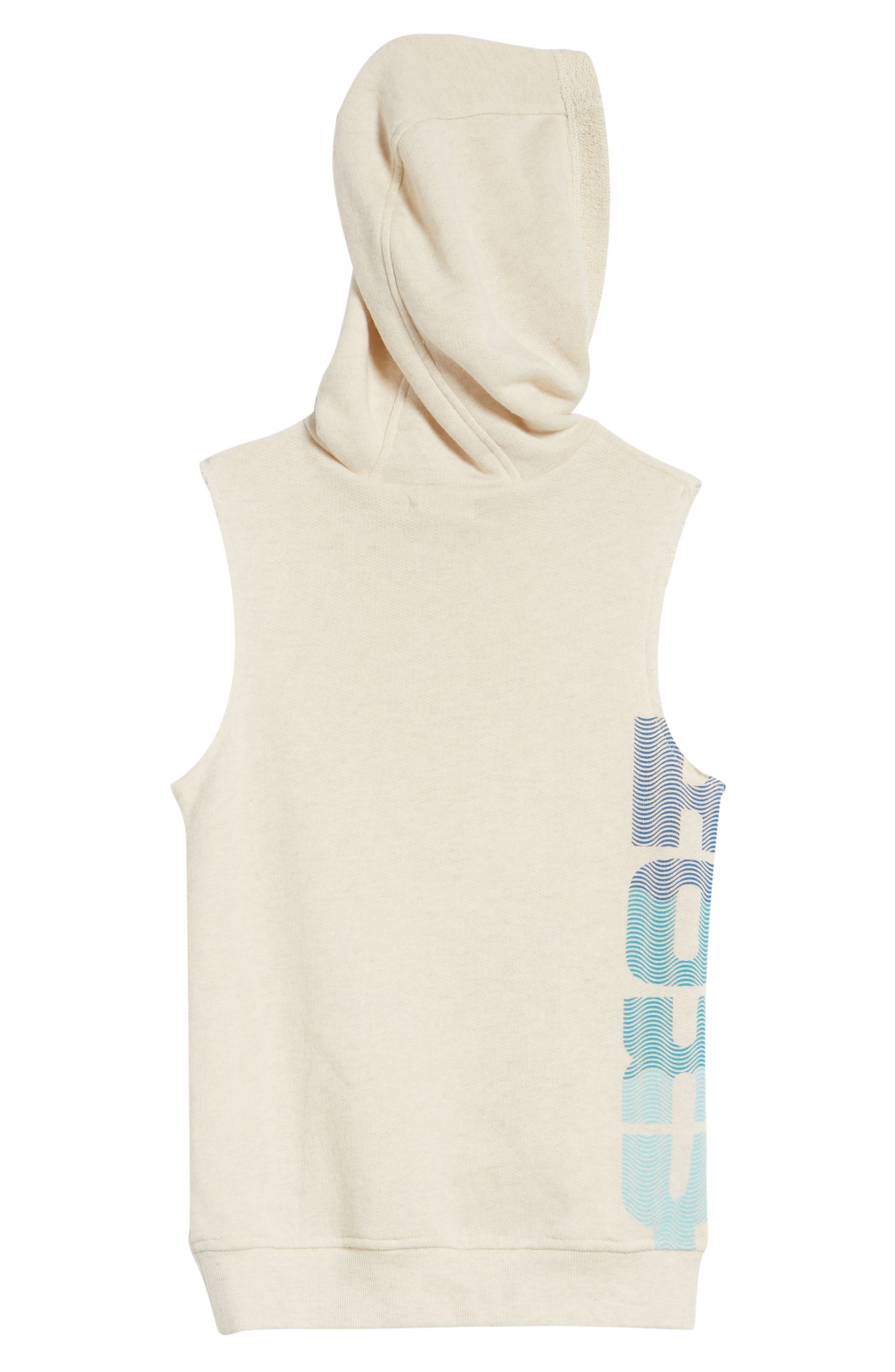 Falling Melody Sleeveless Hoodie,                             Alternate thumbnail 2, color,                             Metro Heather