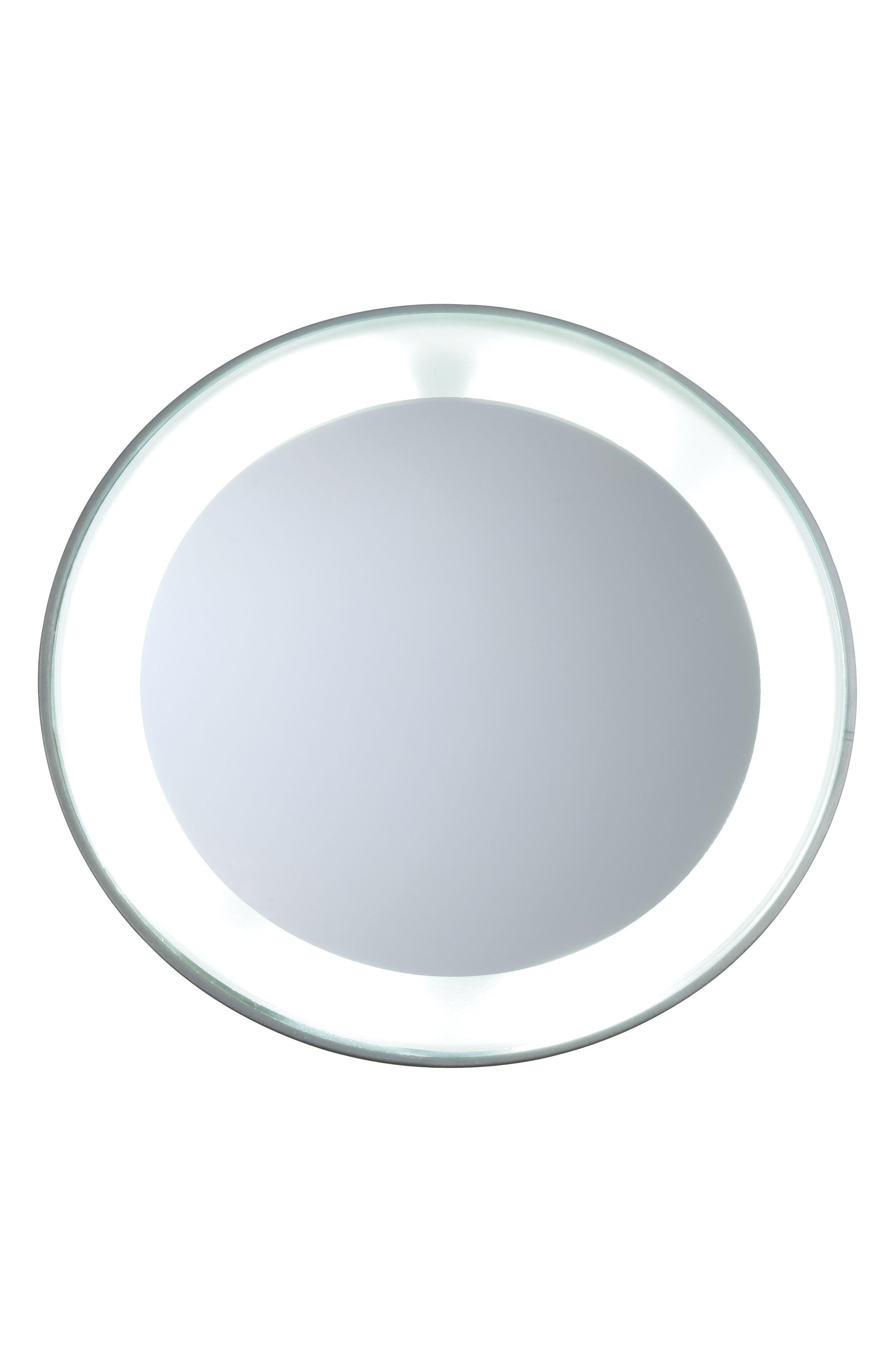 Main Image - TWEEZERMAN Mini LED 15x Lighted Mirror