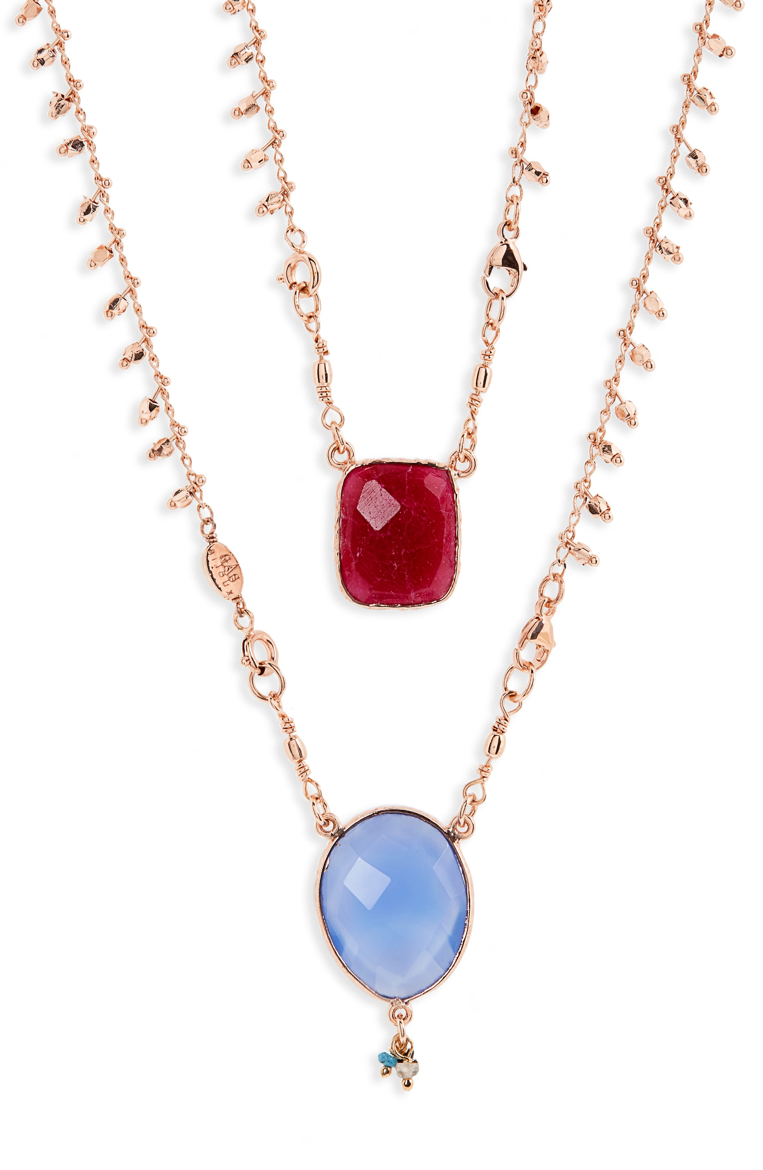 GAS BIJOUX Scapulaire Convertible Semiprecious Stone Necklace