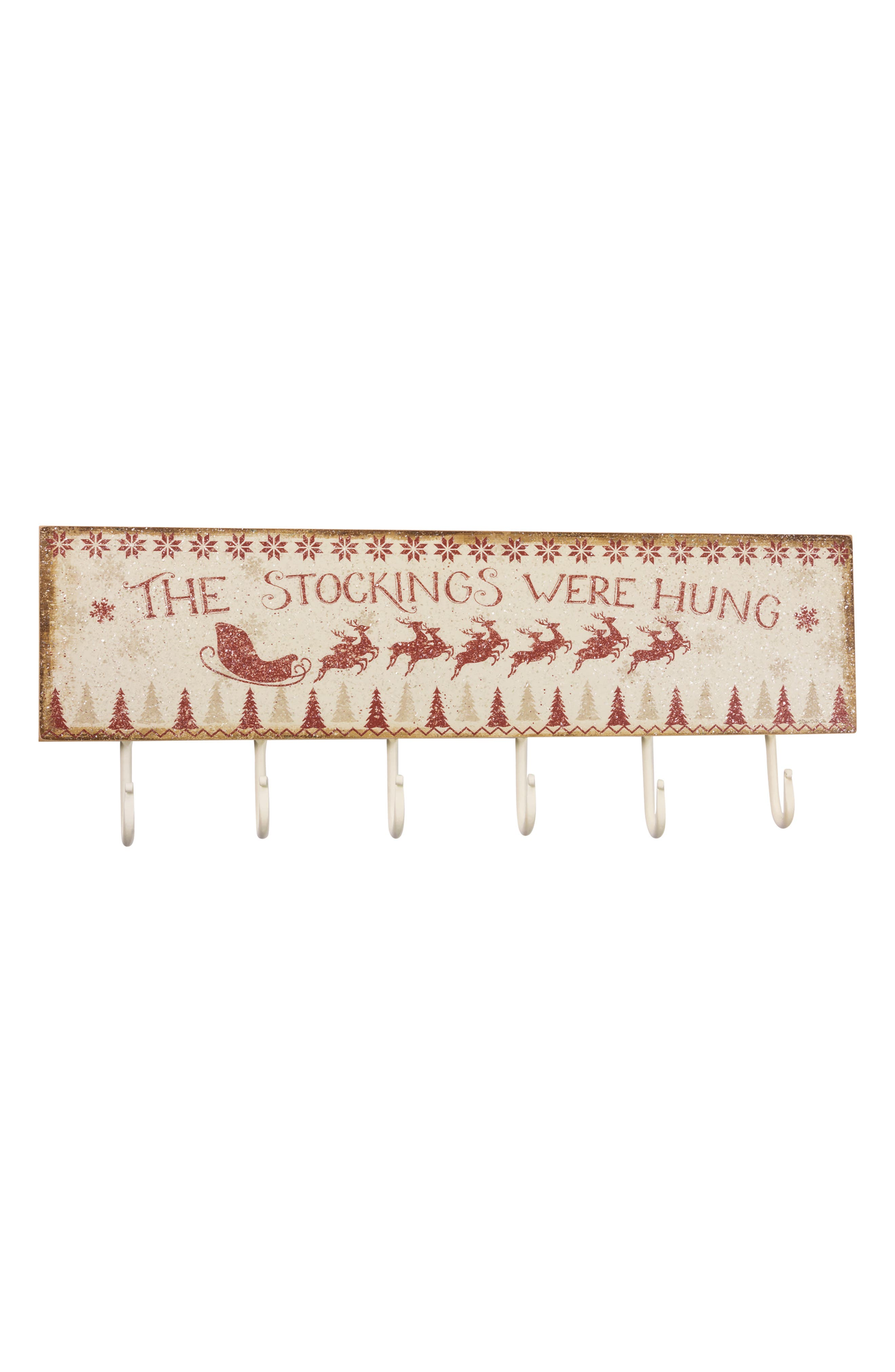Stockings Hook Sign,                         Main,                         color, Ivory