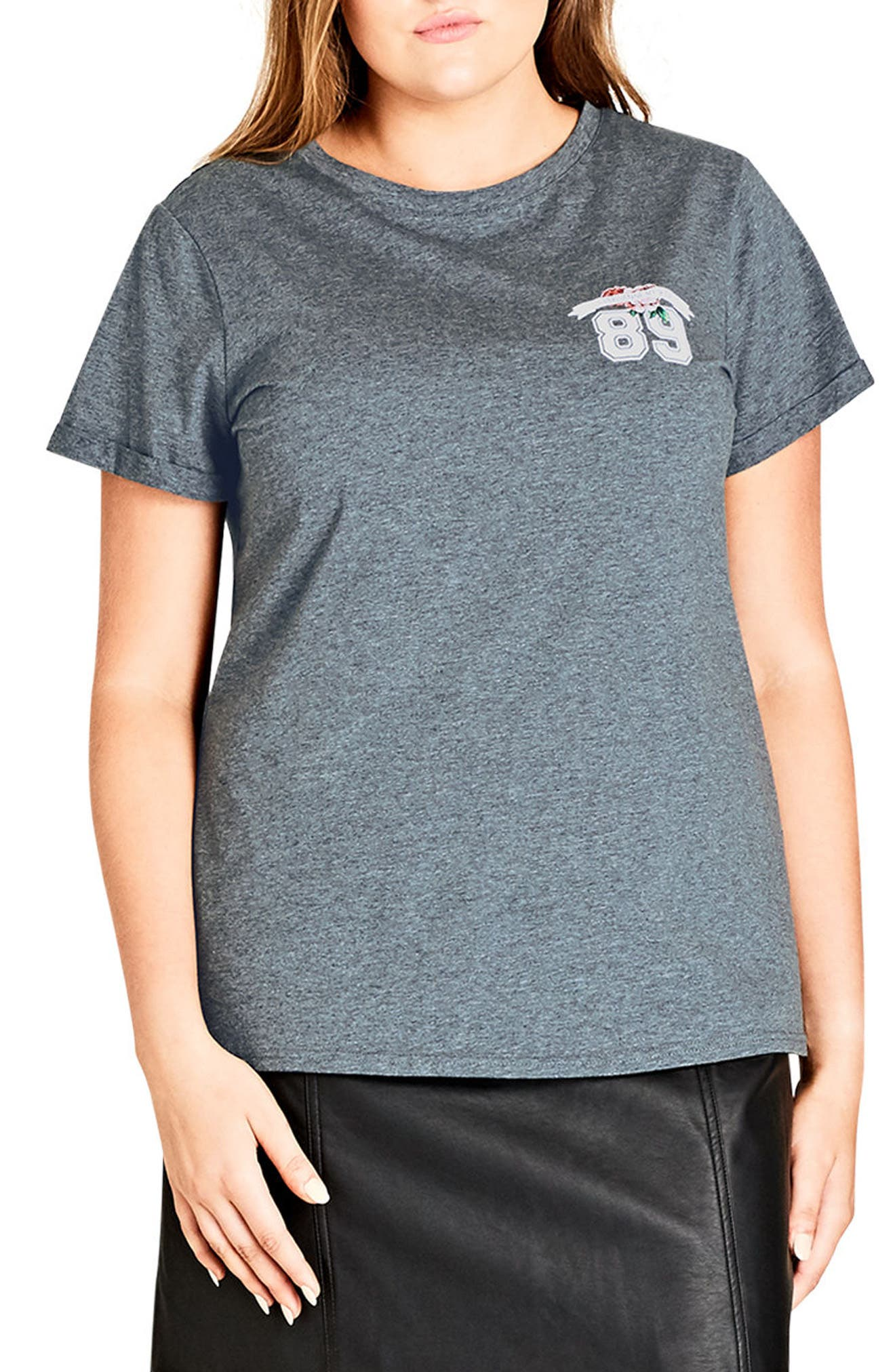 Premier Graphic Tee,                         Main,                         color, Charcoal