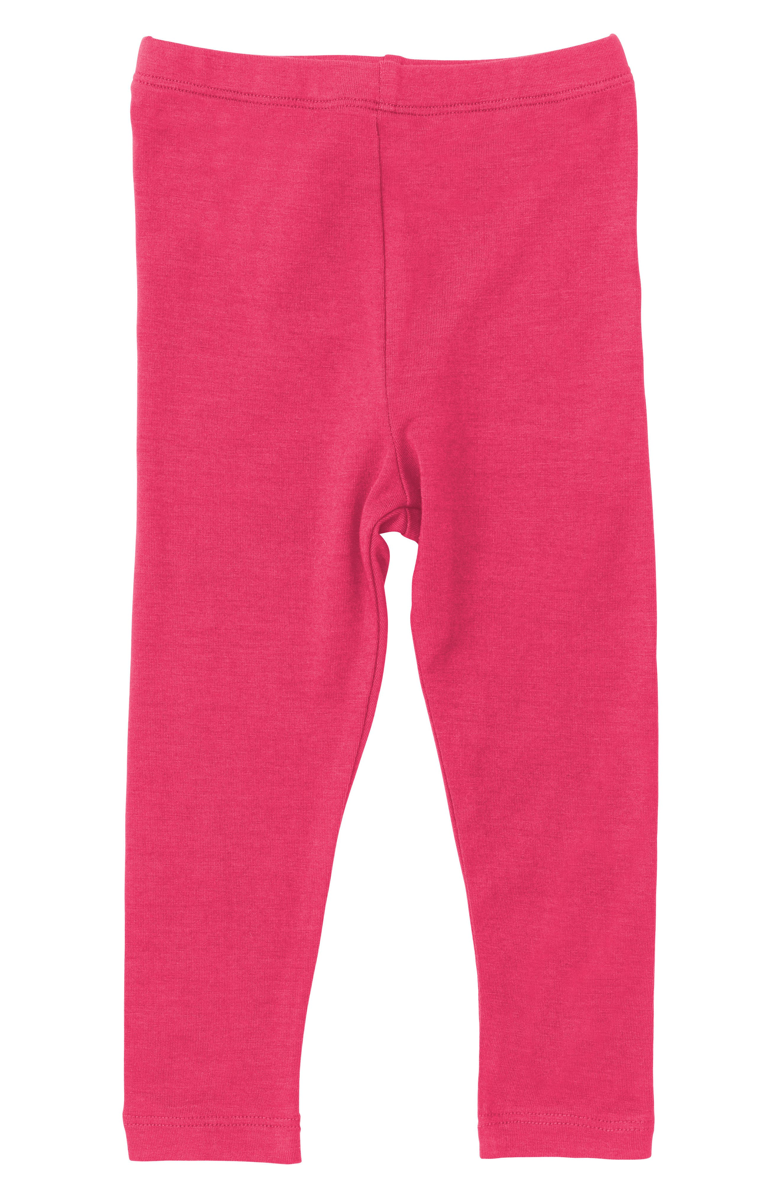 Solid Leggings,                         Main,                         color, Pink