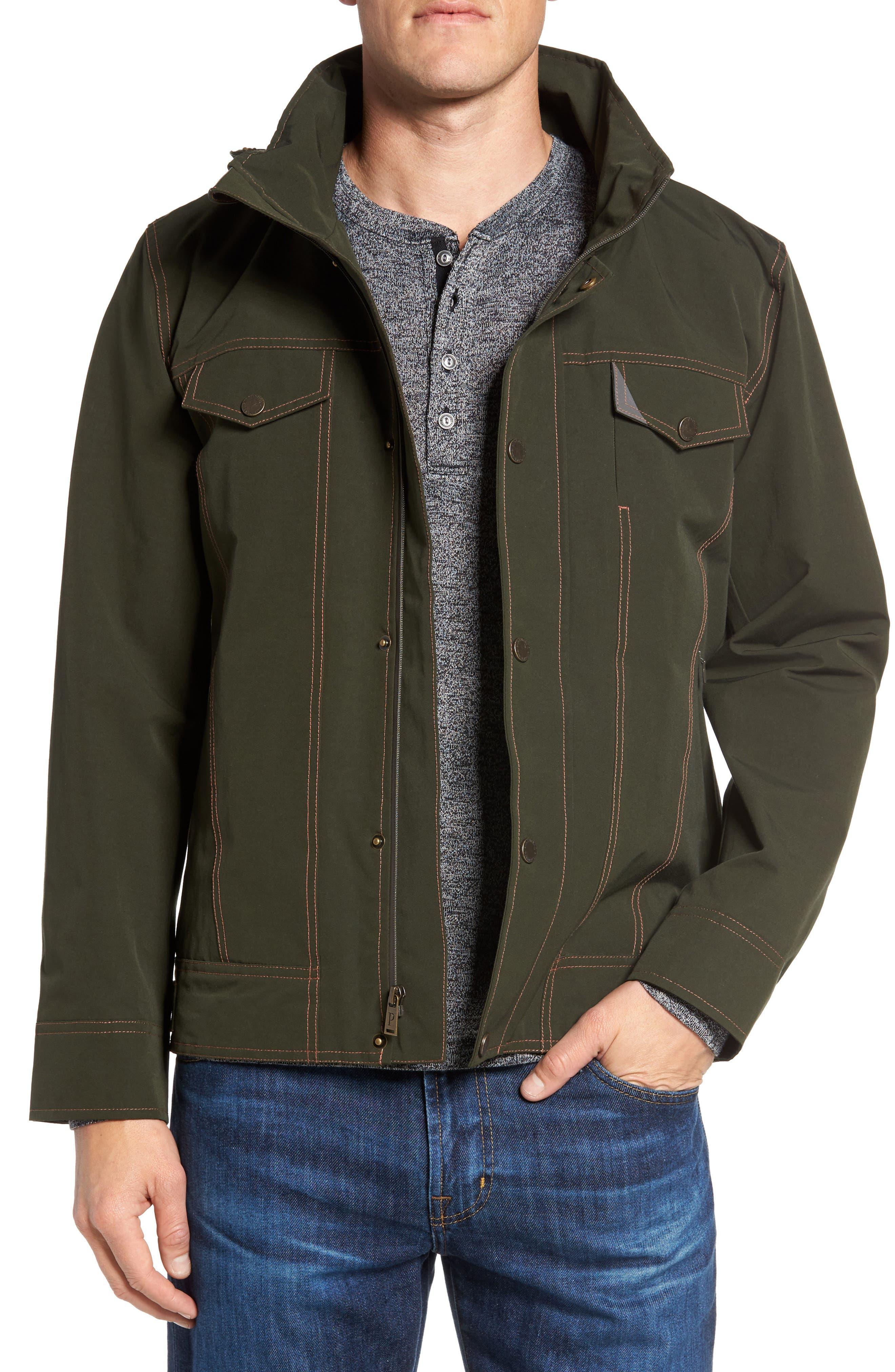 Forks Waterproof Jacket,                         Main,                         color, Rosin
