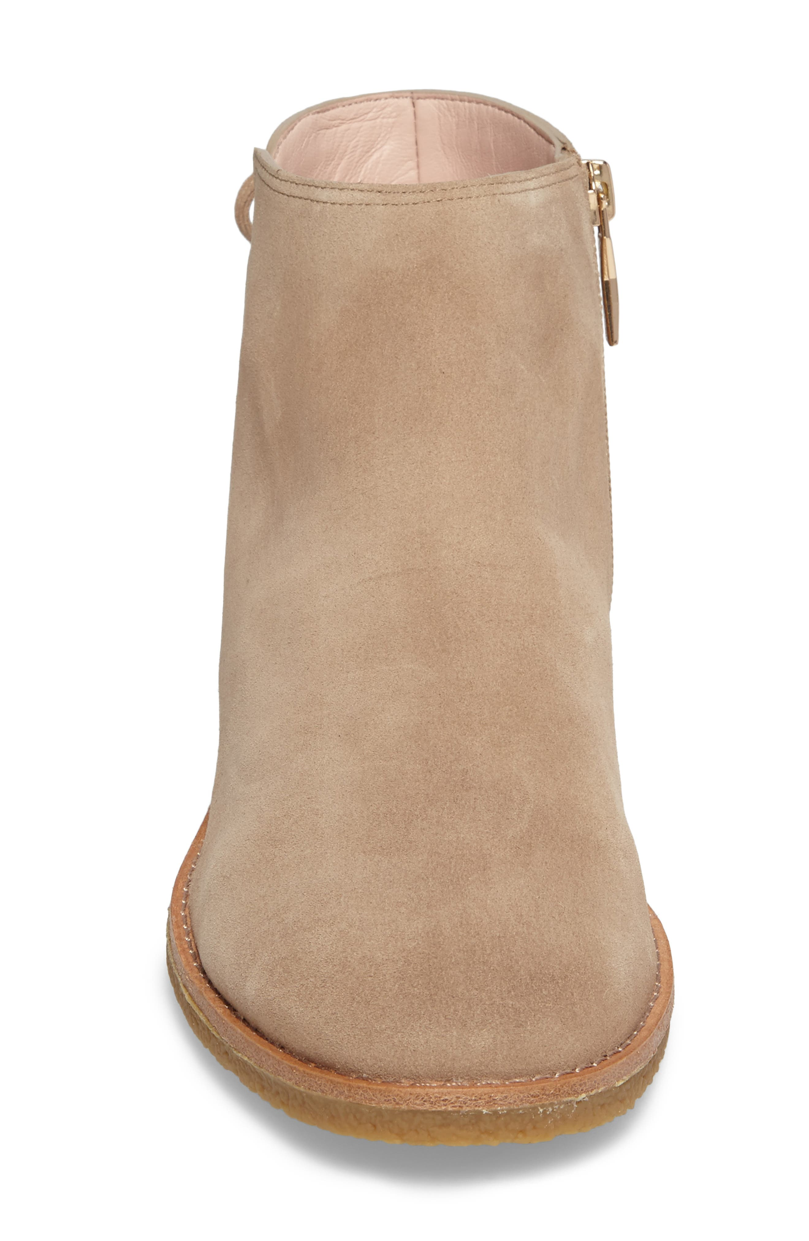 belleville bootie,                             Alternate thumbnail 4, color,                             Desert Suede