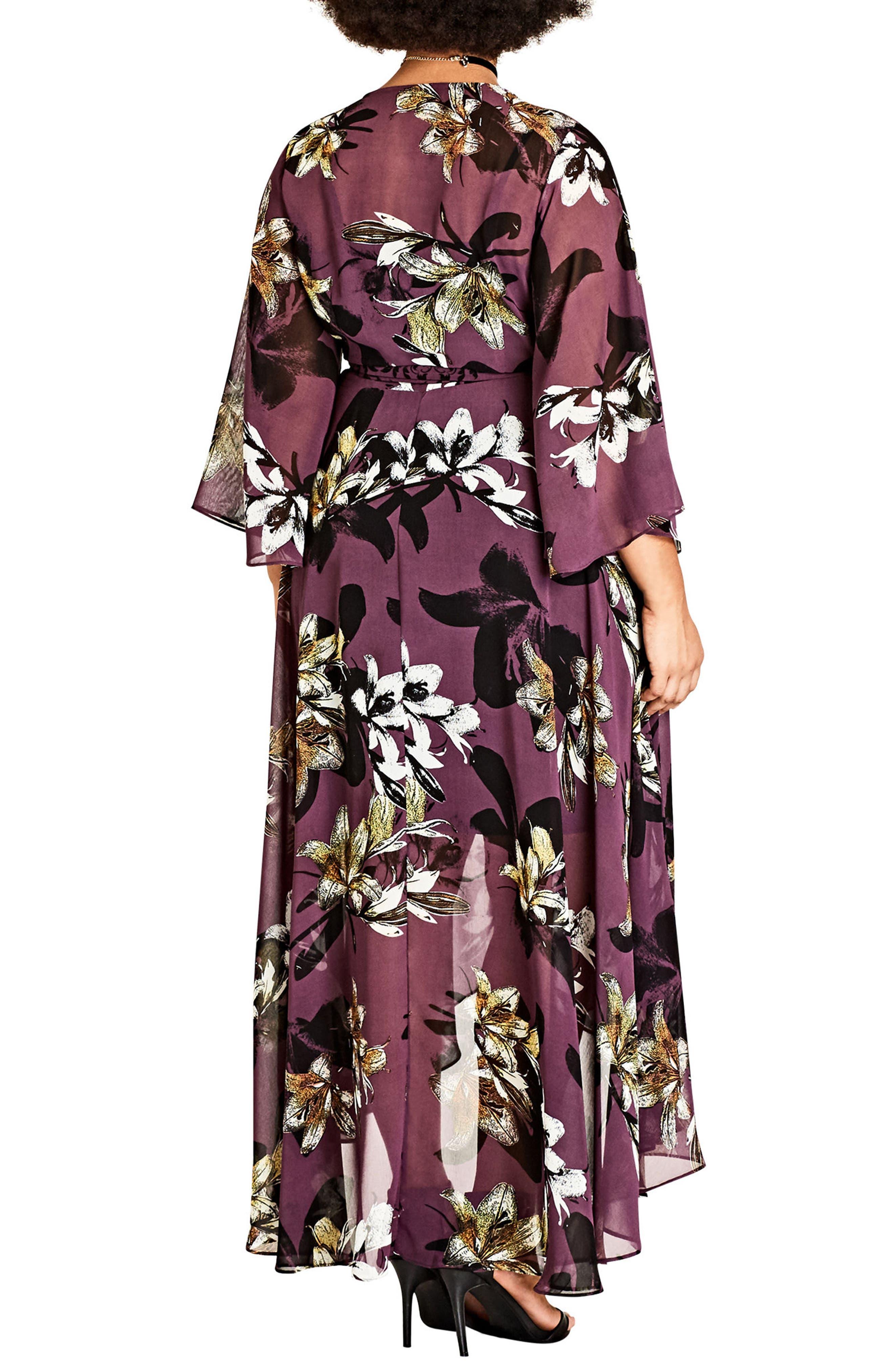 Burgundy Lily Maxi Dress,                             Alternate thumbnail 2, color,                             Burgundy Lily