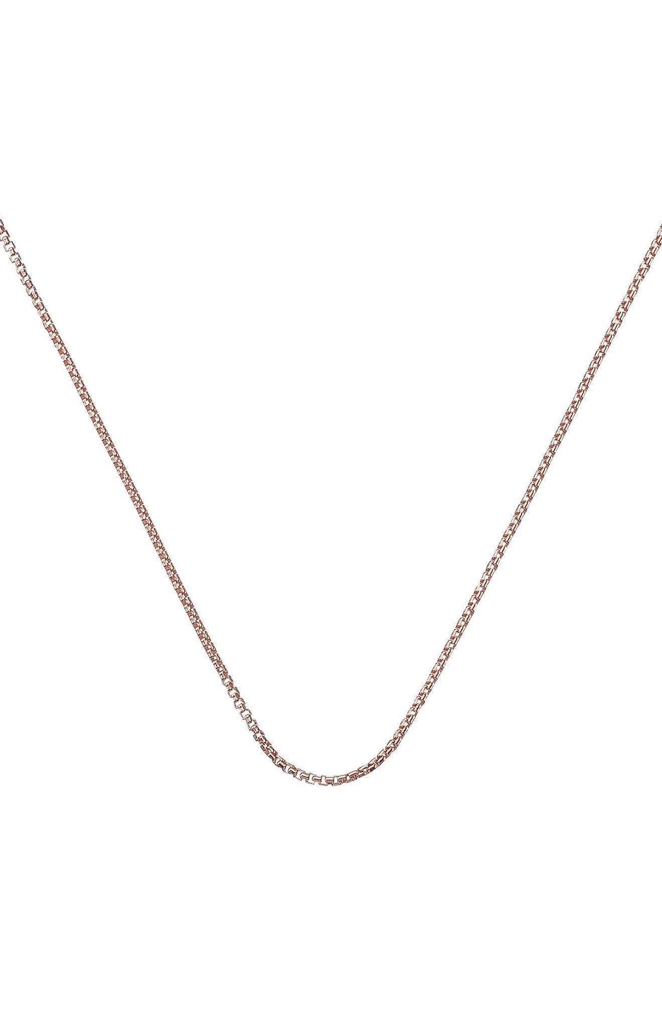 18-Inch Box Chain,                             Main thumbnail 1, color,                             Rose Gold