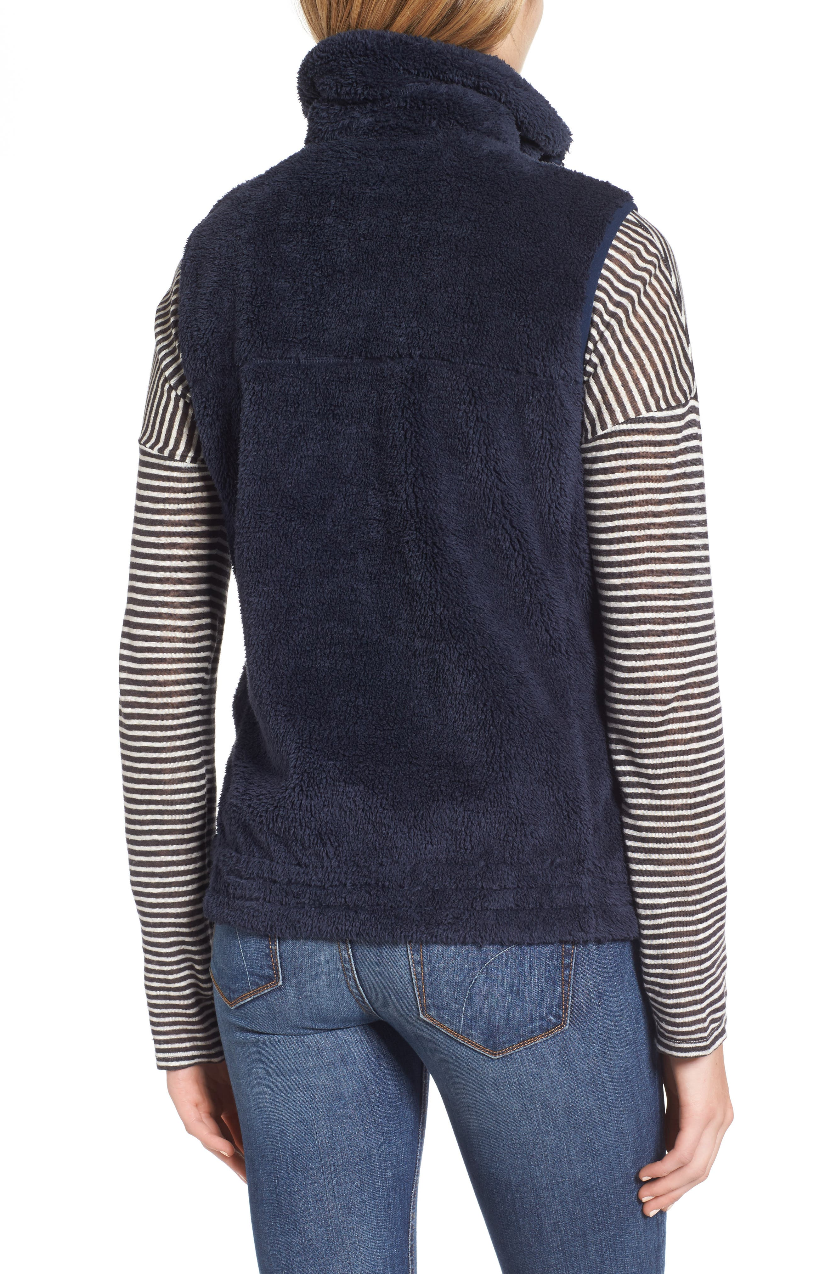 Fleece Vest,                             Alternate thumbnail 2, color,                             Navy