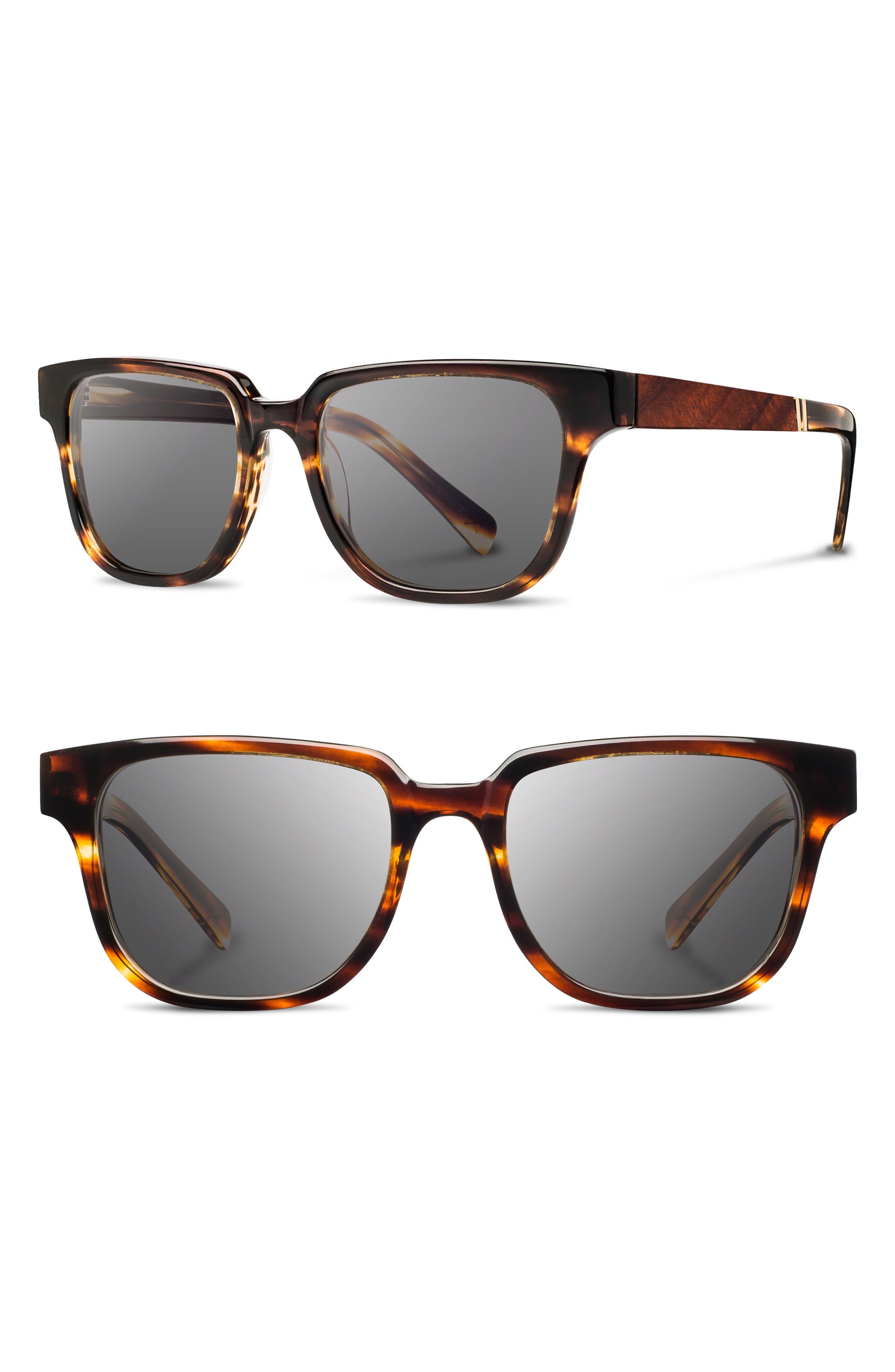 'Prescott' 52mm Polarized Sunglasses,                             Main thumbnail 1, color,                             Tortoise/ Mahogany/ Grey