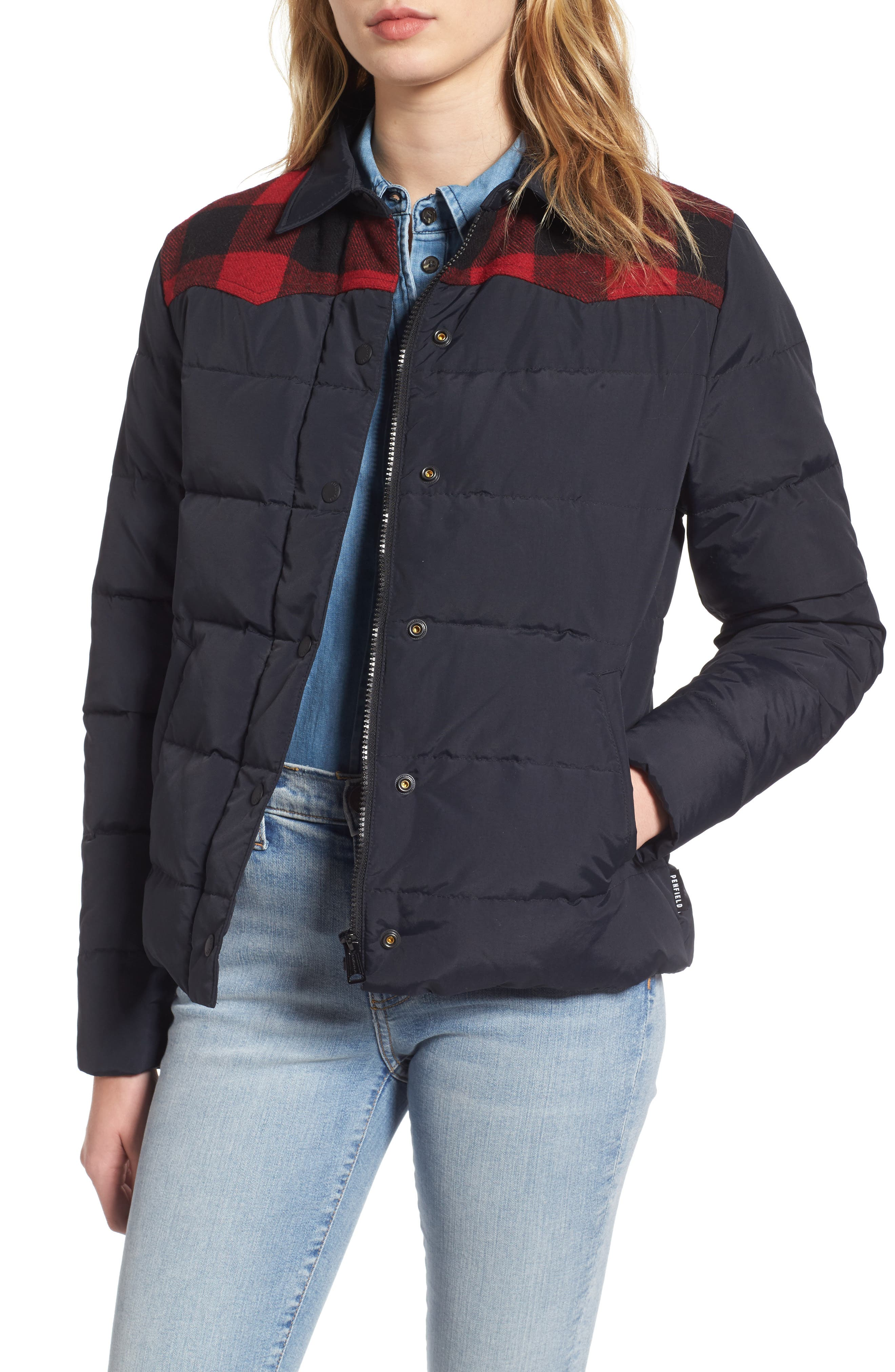 Down & Feather Fill Jacket,                         Main,                         color, Black