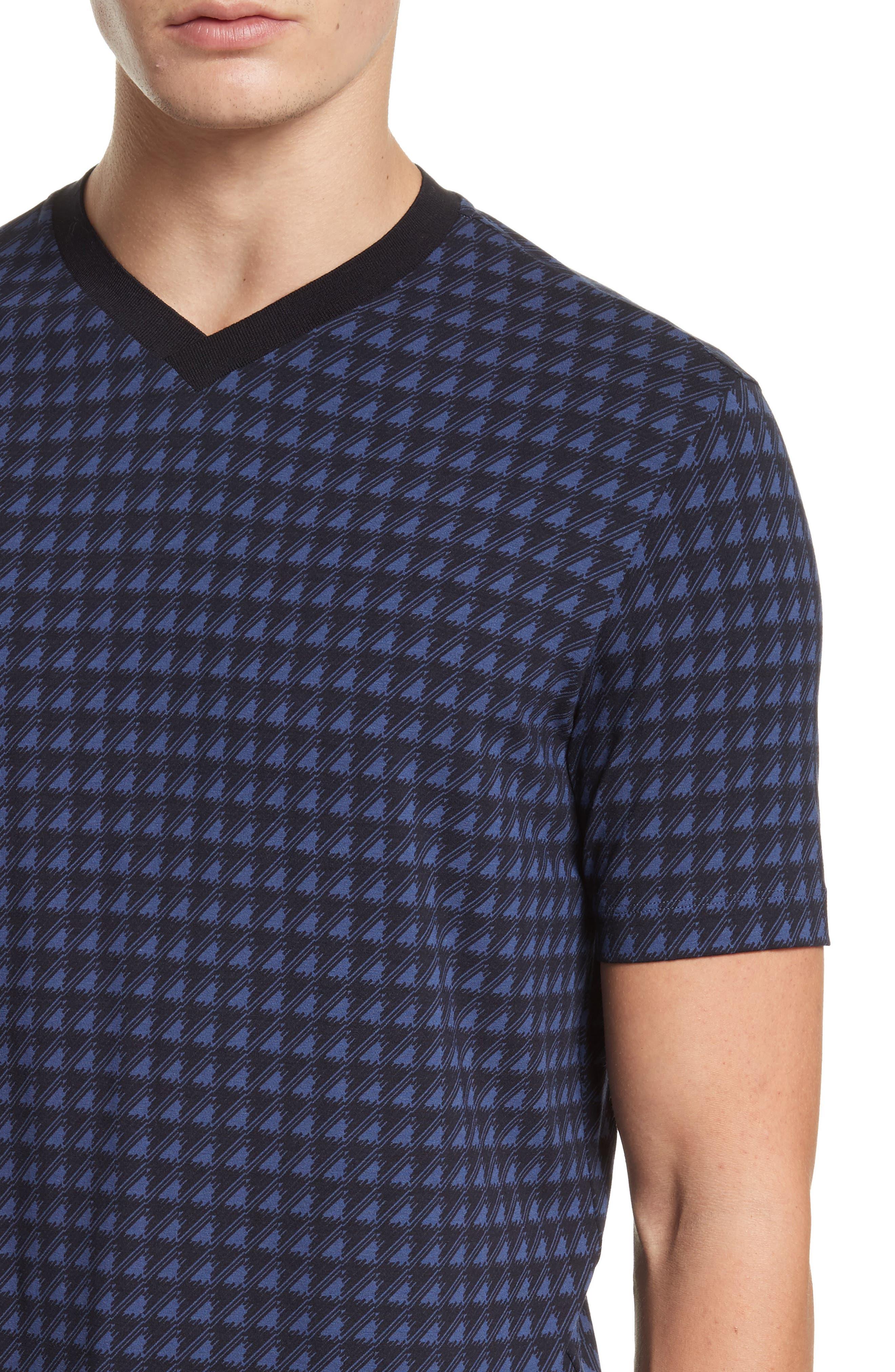 Alternate Image 4  - Armani Collezioni High V-Neck T-Shirt