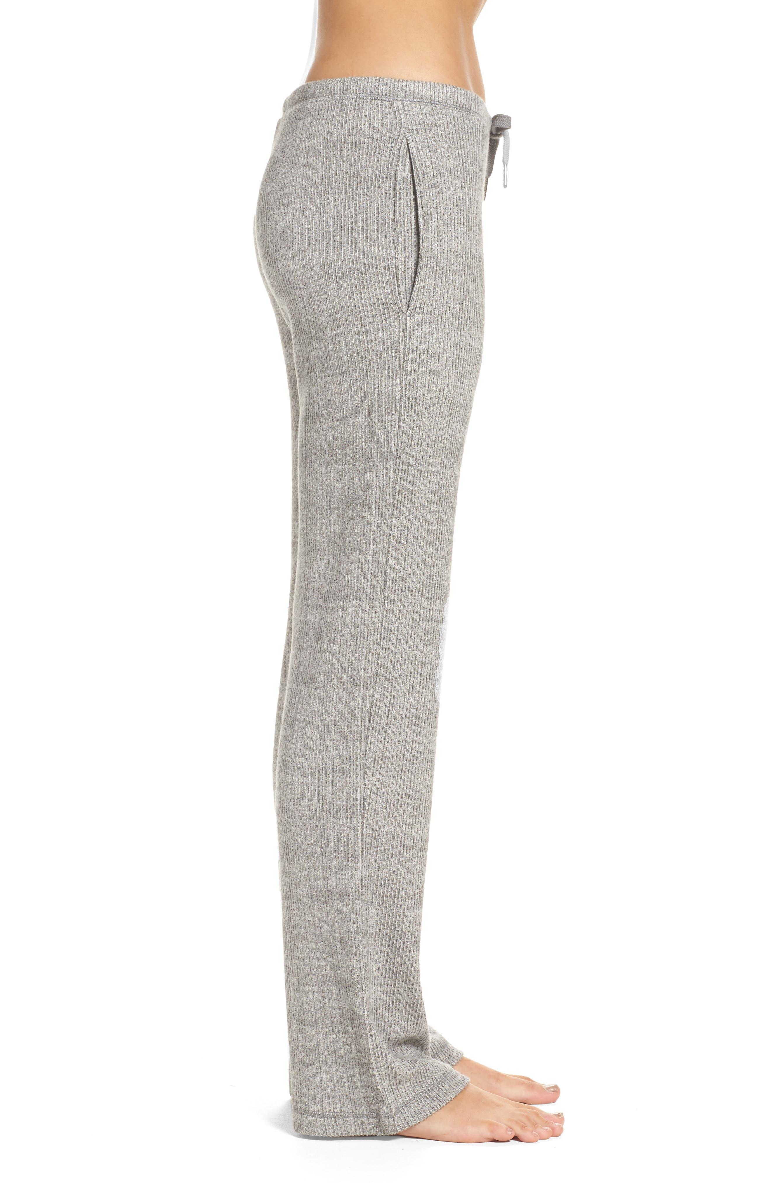 Knit Lounge Pants,                             Alternate thumbnail 3, color,                             Grey