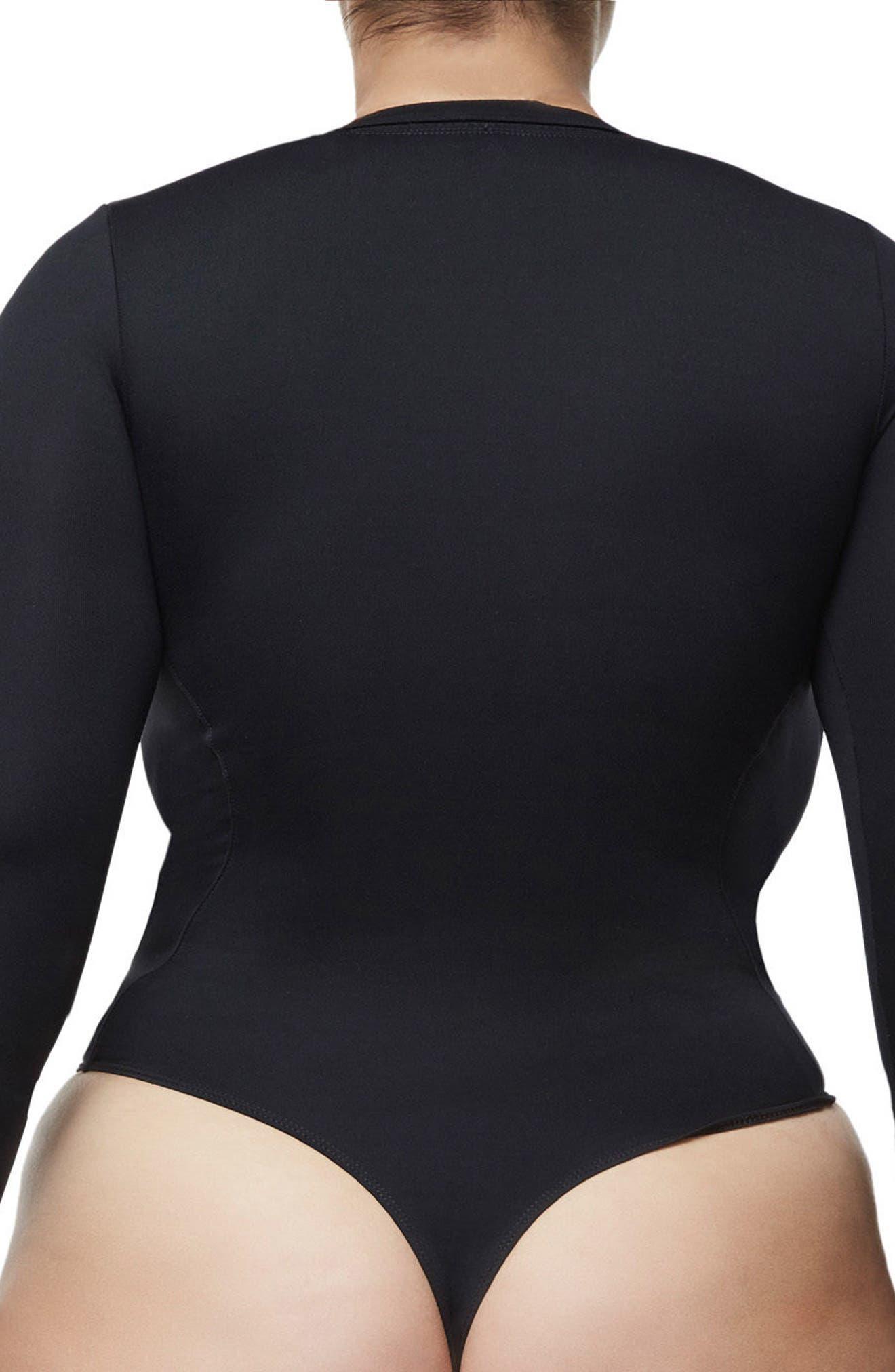 Alternate Image 7  - Good Body Low Down Bodysuit (Extended Sizes)