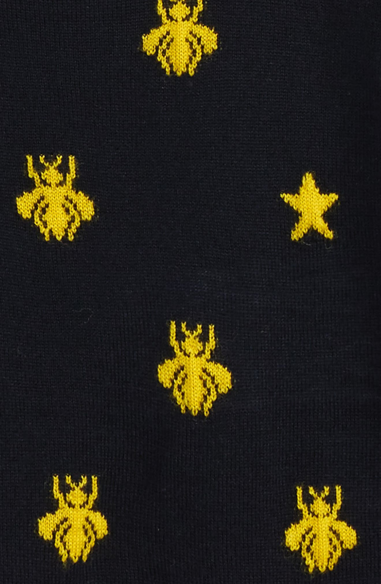 Alternate Image 2  - Gucci Zest Bee & Star Intarsia Wool Sweater (Baby)