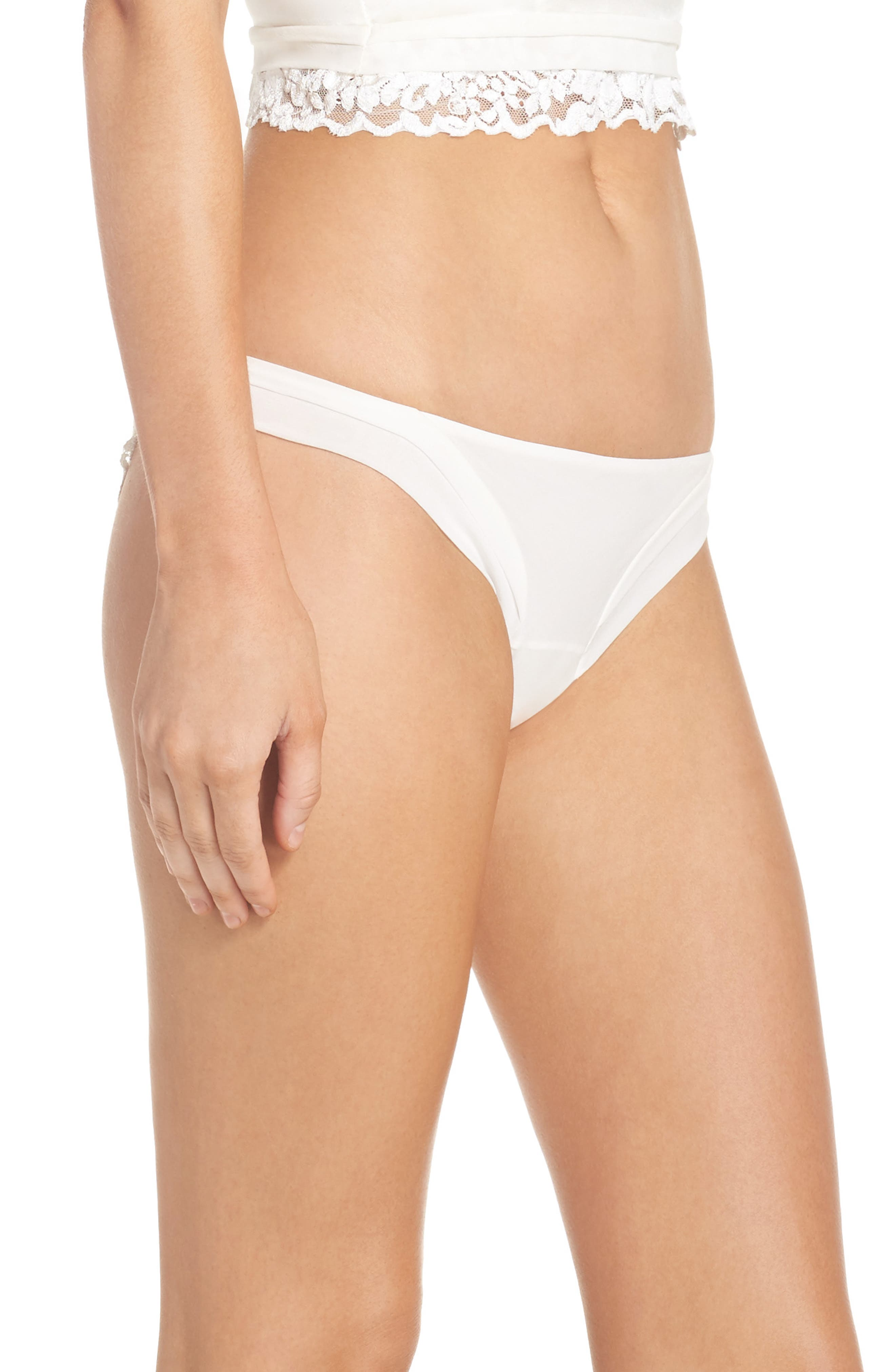 Alternate Image 3  - La Perla Azalea Brazilian Panties