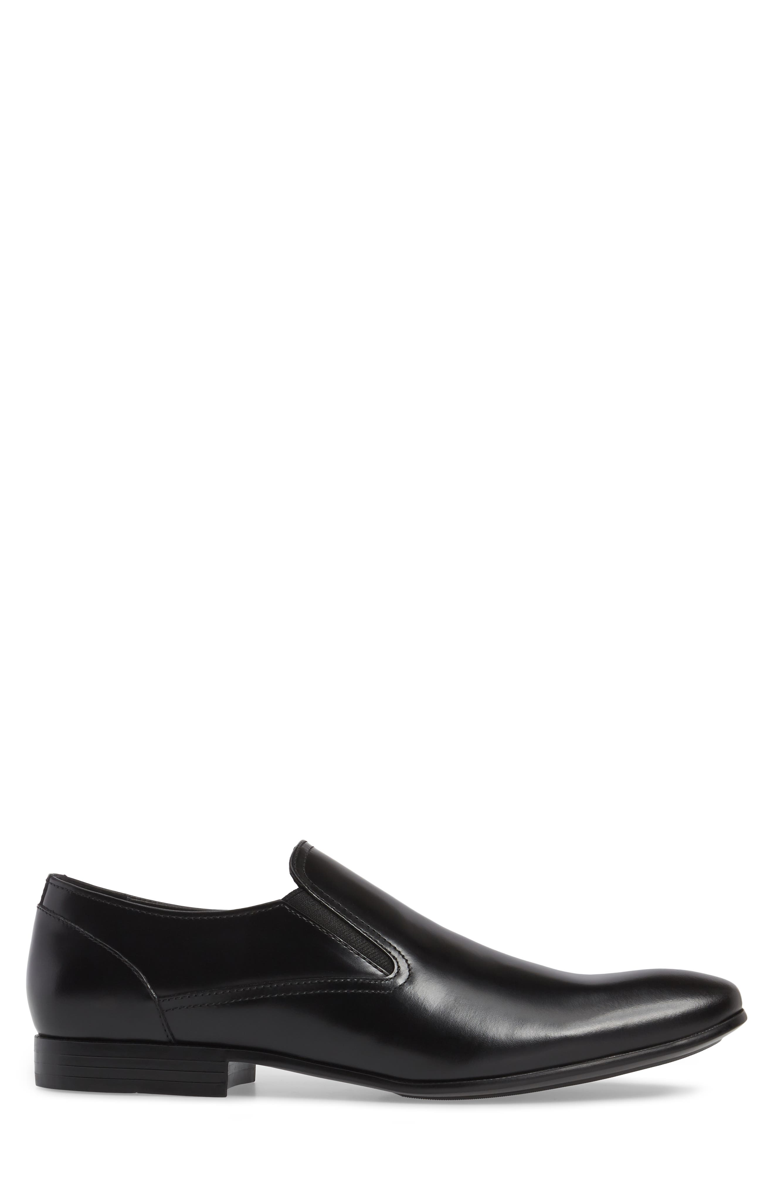 Venetian Loafer,                             Alternate thumbnail 3, color,                             Black Leather