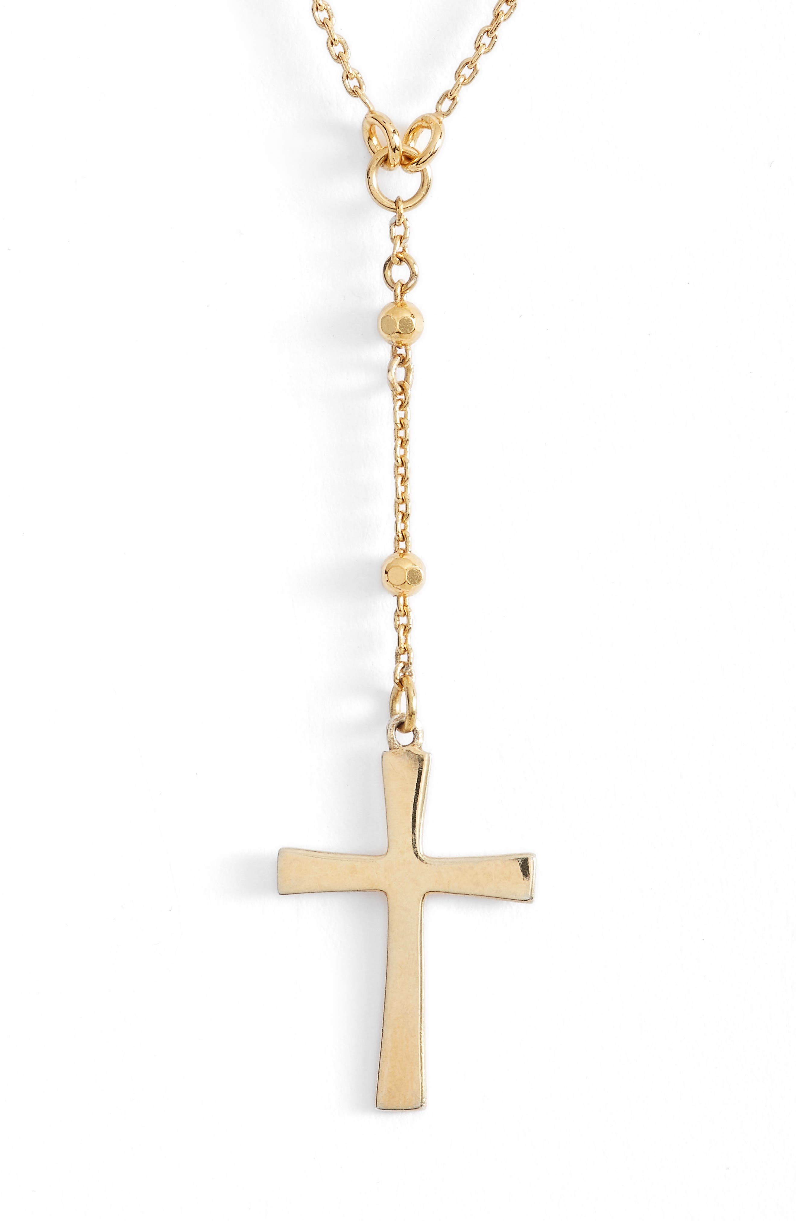 Station Cross Choker Necklace,                         Main,                         color, Gold
