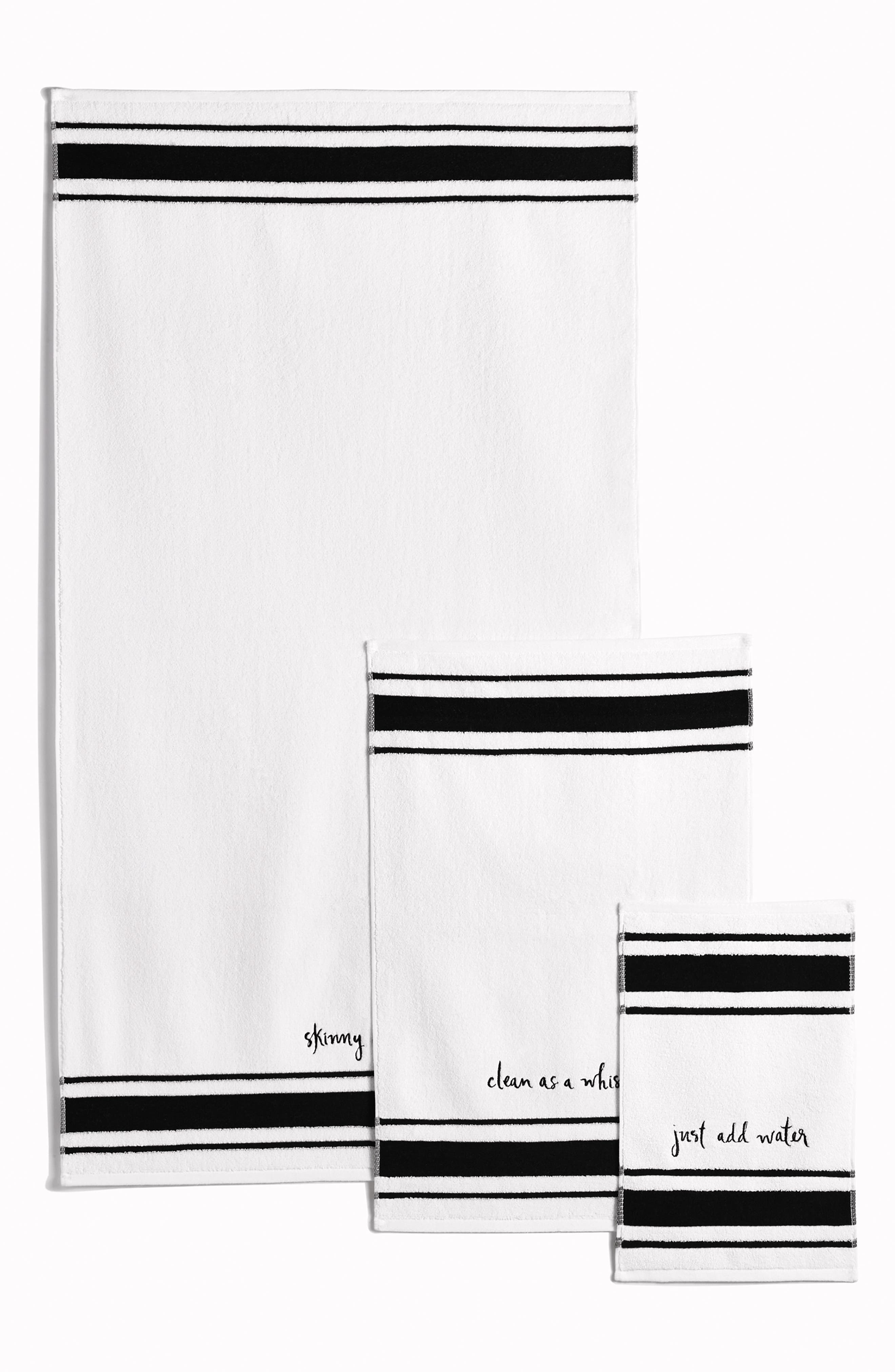 daisy place bath towel,                             Alternate thumbnail 3, color,                             White