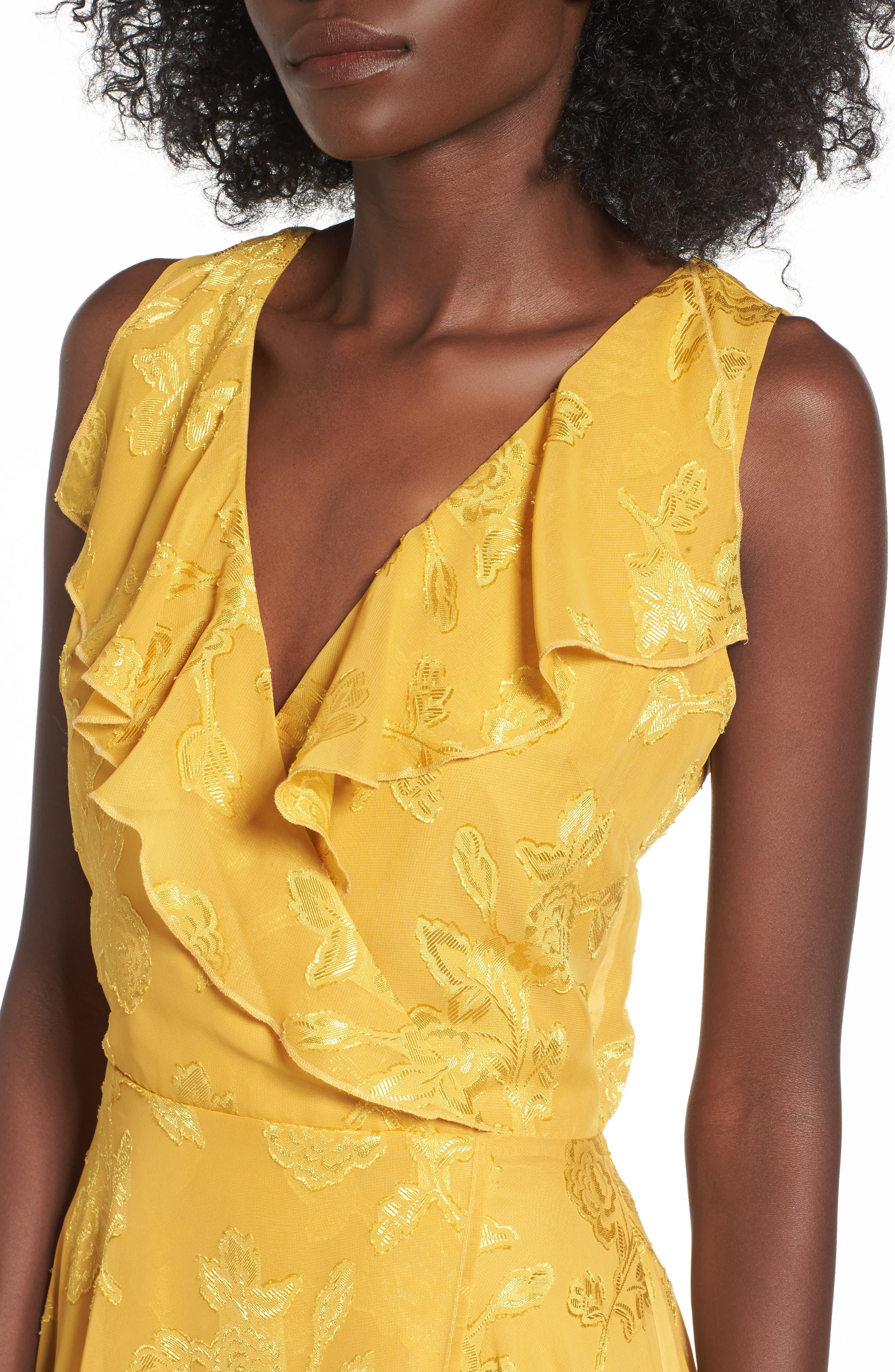Alternate Image 4  - Leith Handkerchief Hem Faux-Wrap Midi Dress