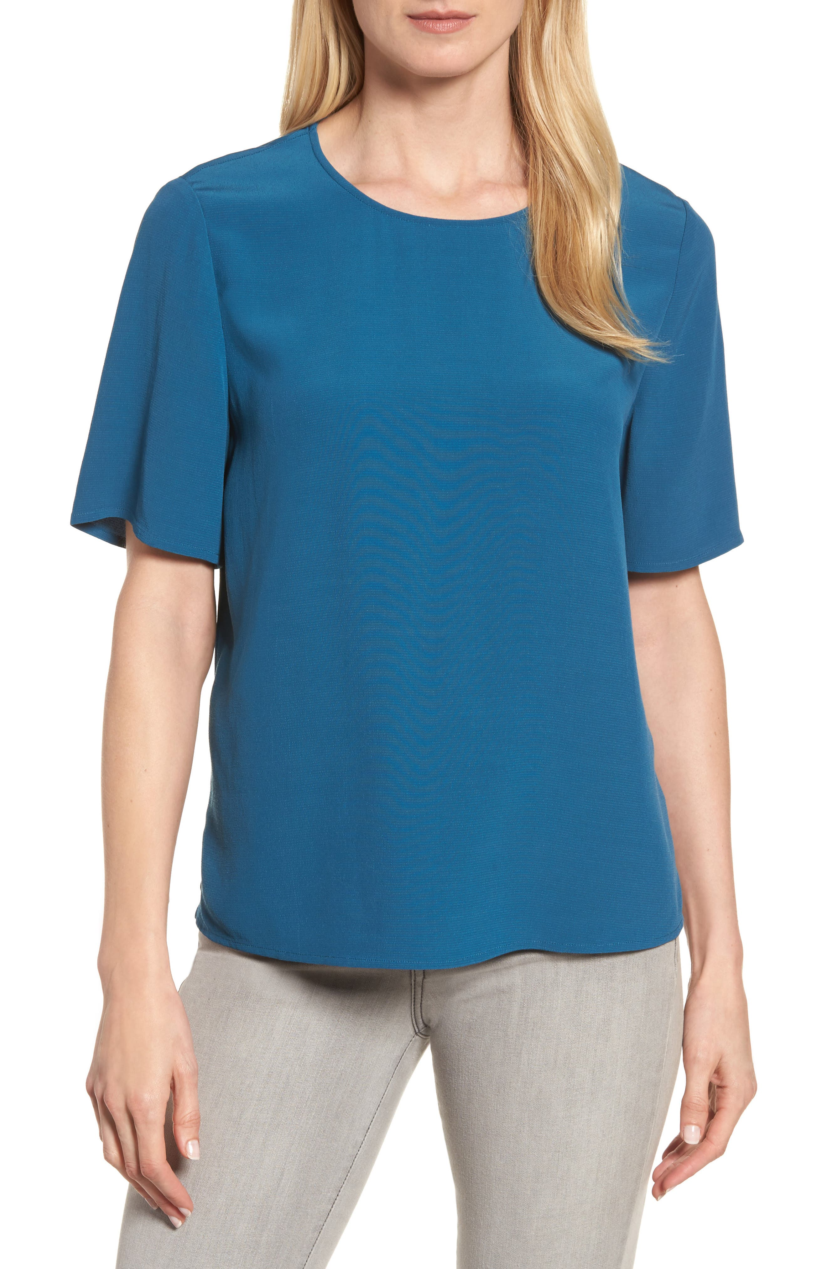 Alternate Image 1 Selected - Eileen Fisher Tencel® Blend Top