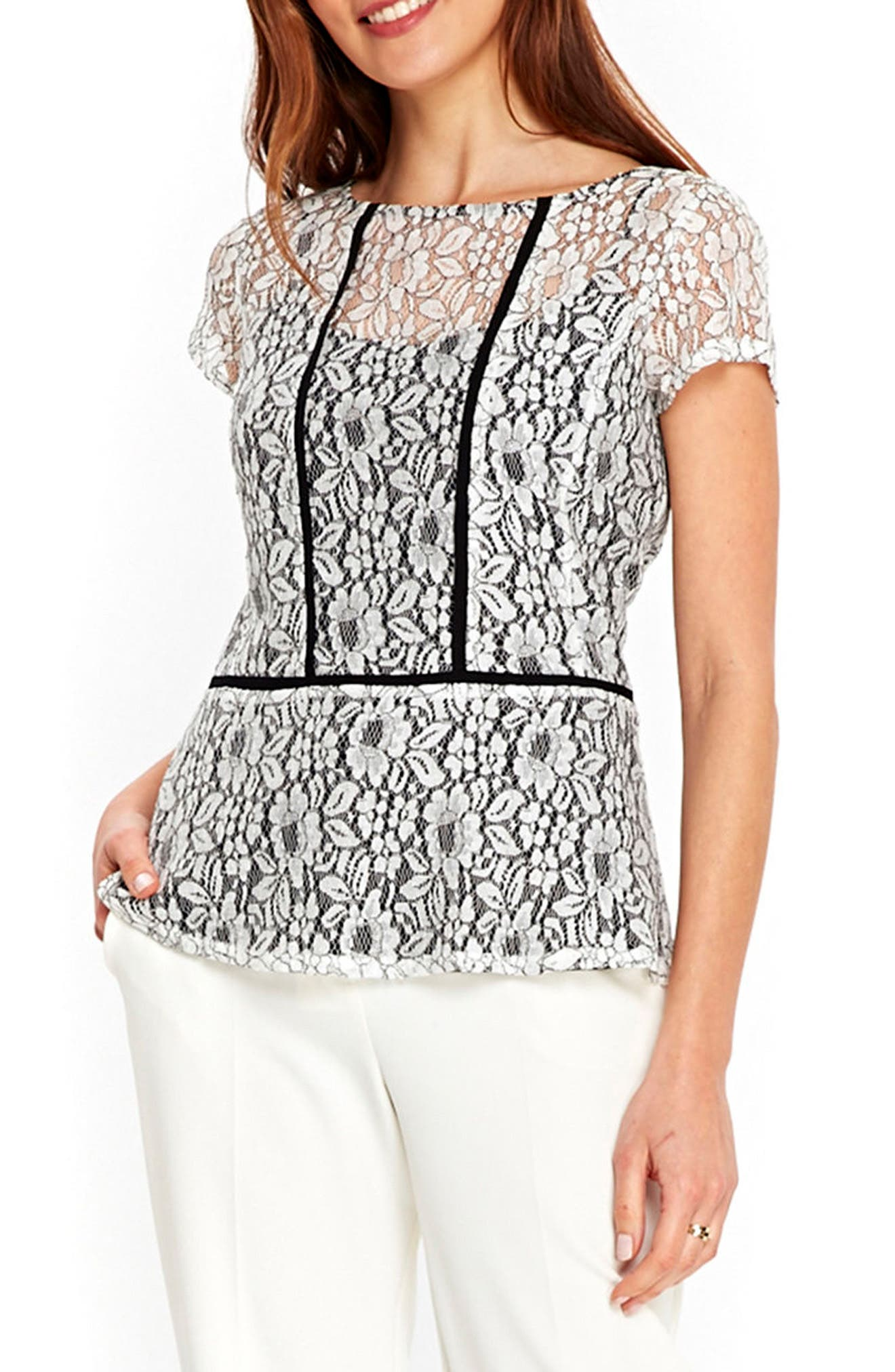 WALLIS Lace Peplum Top