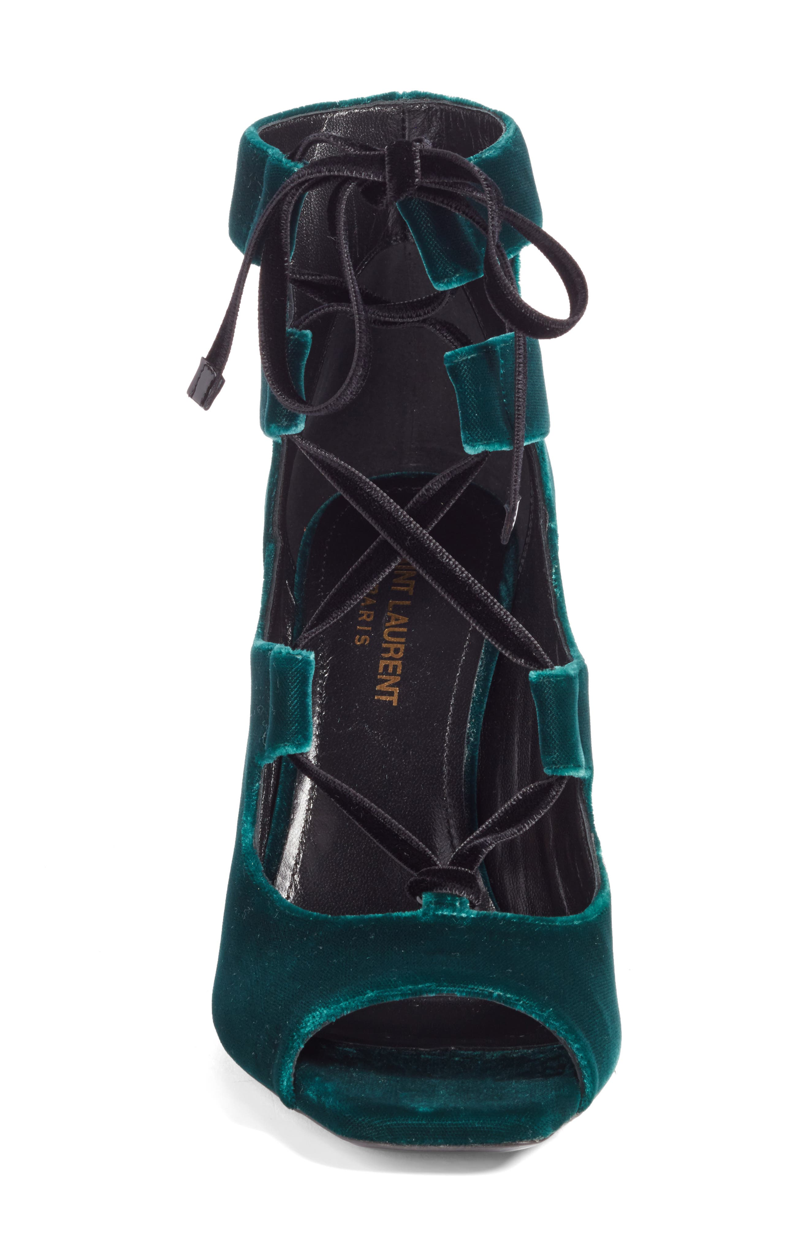 Loulou Ghillie Sandal,                             Alternate thumbnail 4, color,                             Teal