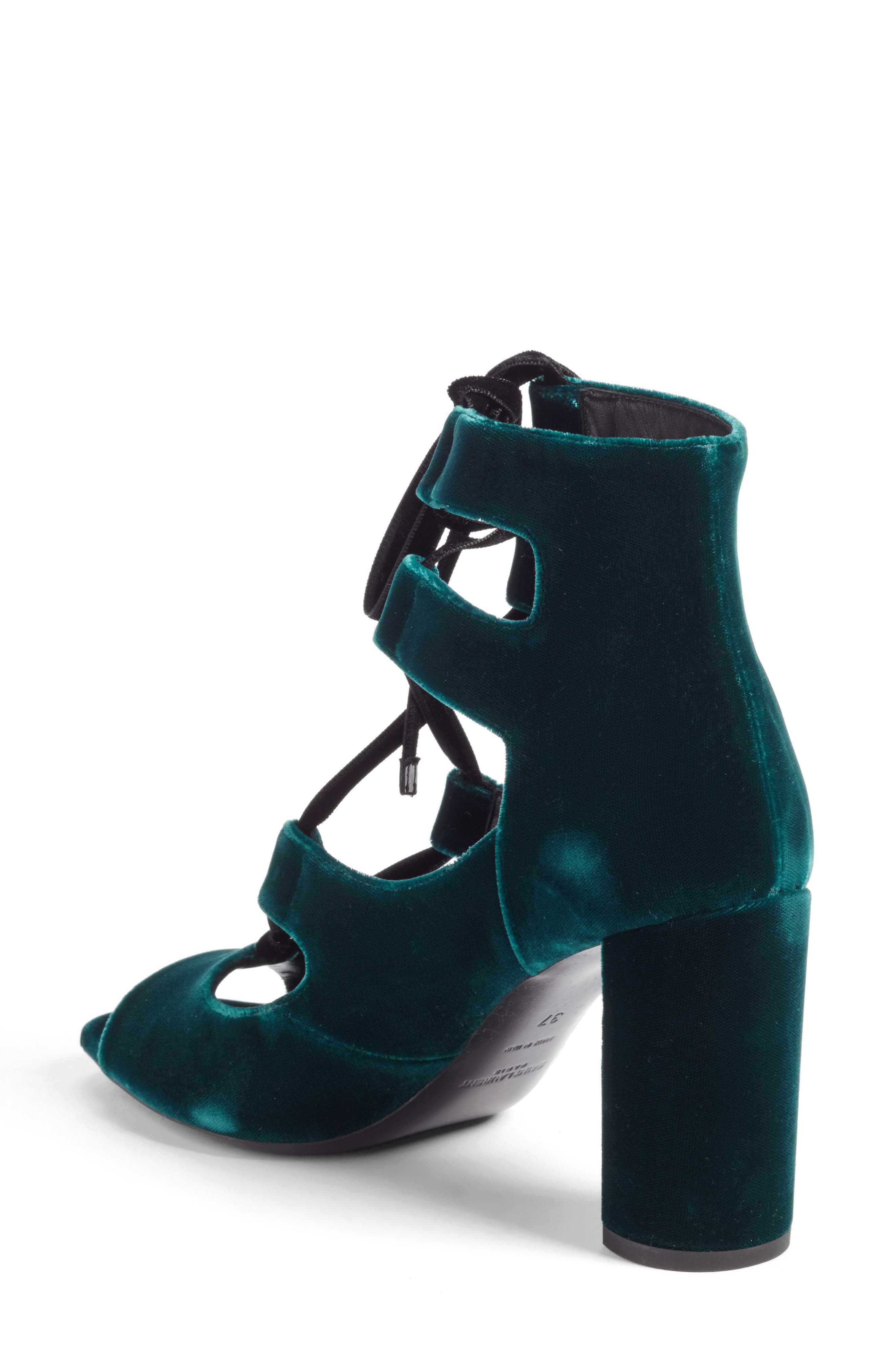Loulou Ghillie Sandal,                             Alternate thumbnail 2, color,                             Teal