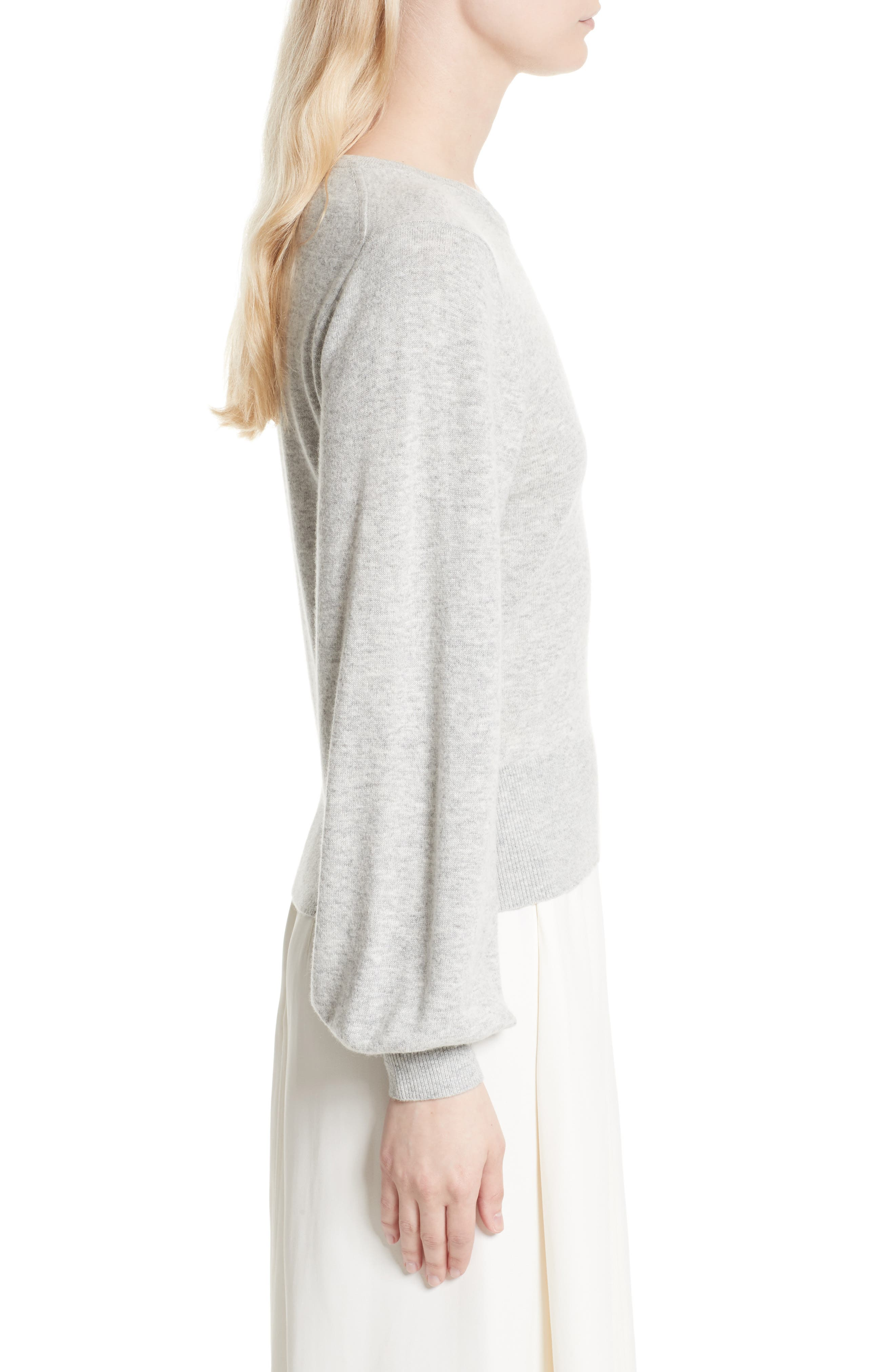 Bretta Sweater,                             Alternate thumbnail 4, color,                             Heather Grey