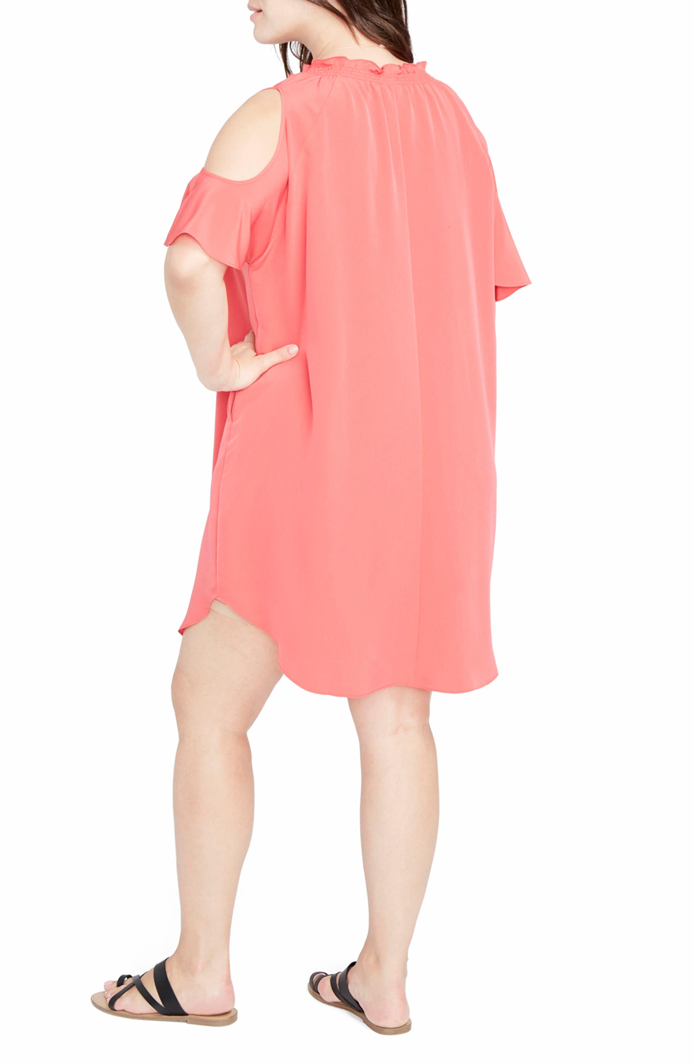 Alternate Image 2  - RACHEL Rachel Roy Elizabeth Cold Shoulder Dress (Plus Size)