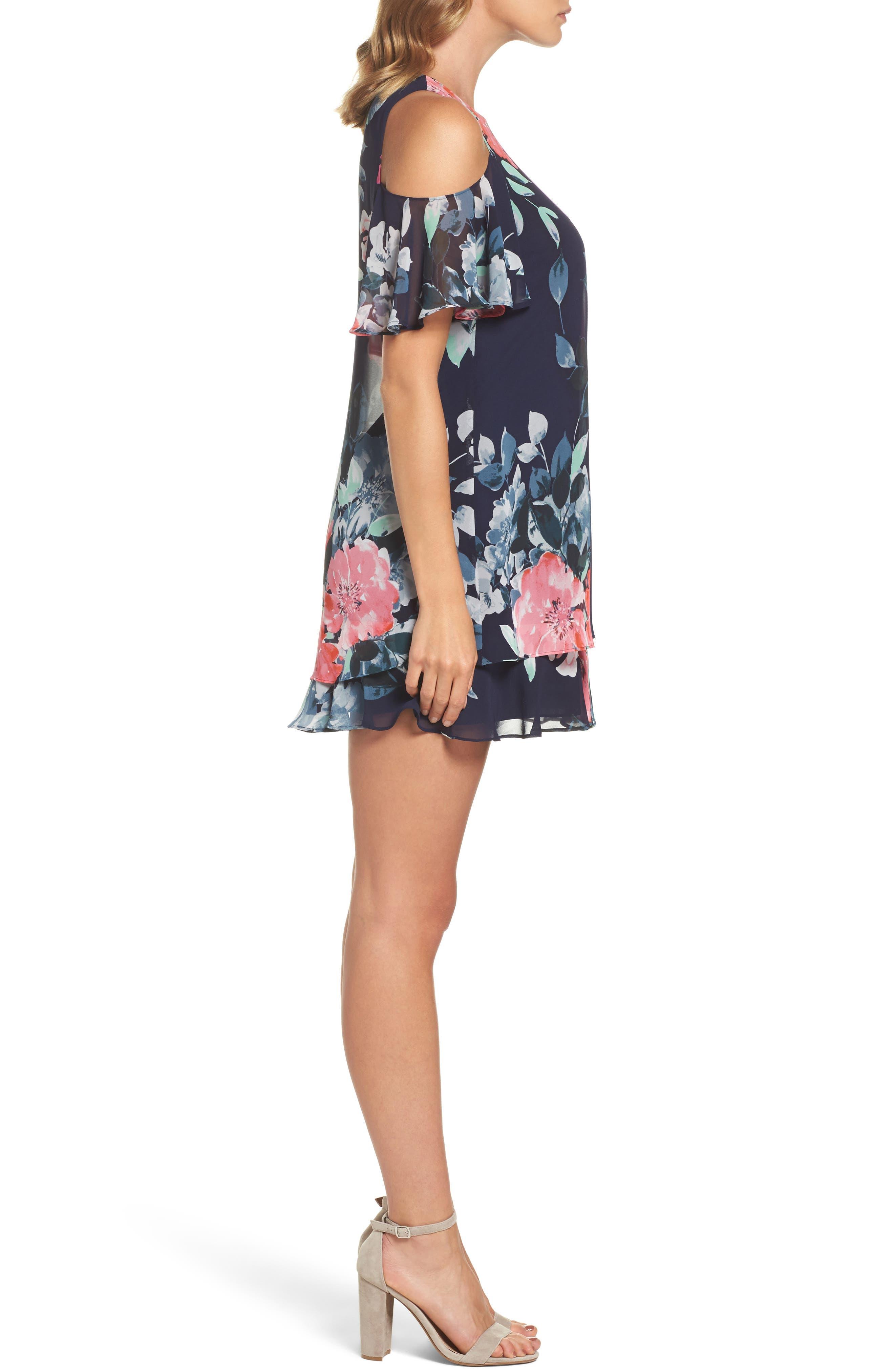 Alternate Image 3  - Eliza J Tiered Chiffon Shift Dress