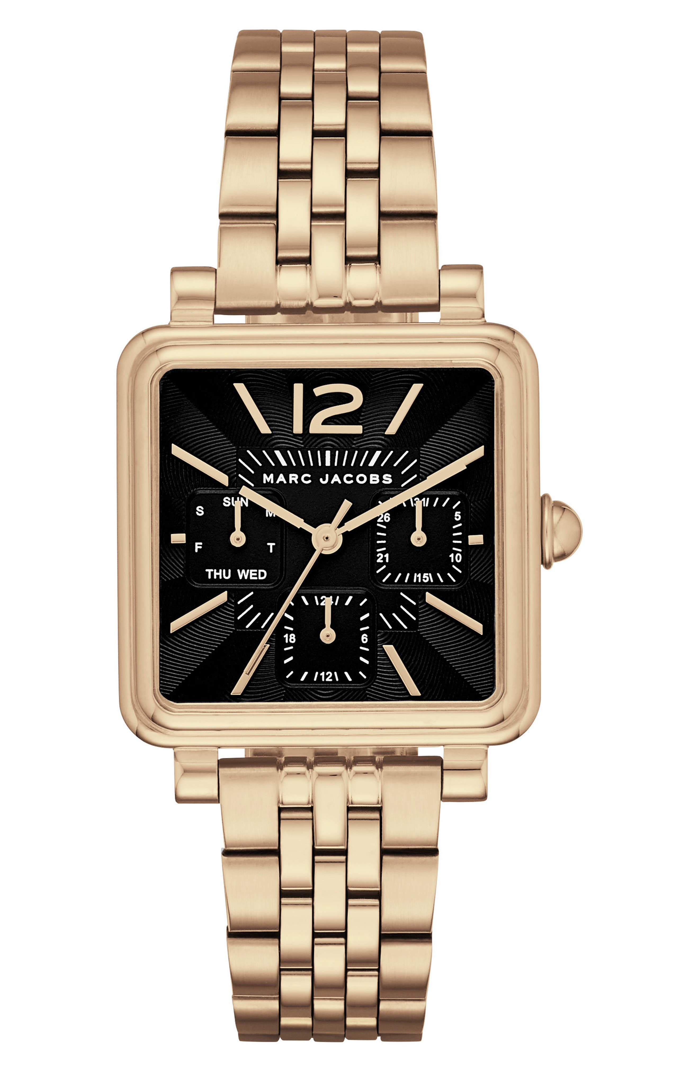 Alternate Image 1 Selected - MARC JACOBS Square Vic Bracelet Watch, 30mm
